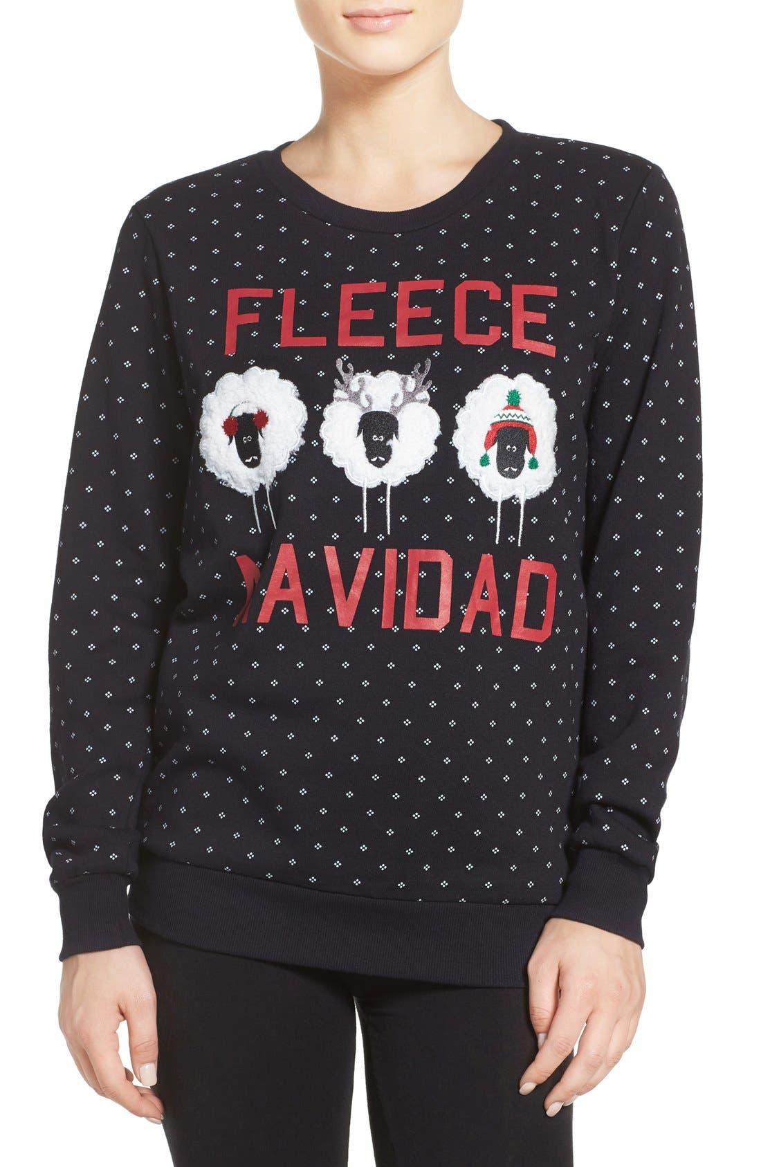 Holiday Sweatshirt,                             Main thumbnail 1, color,                             001
