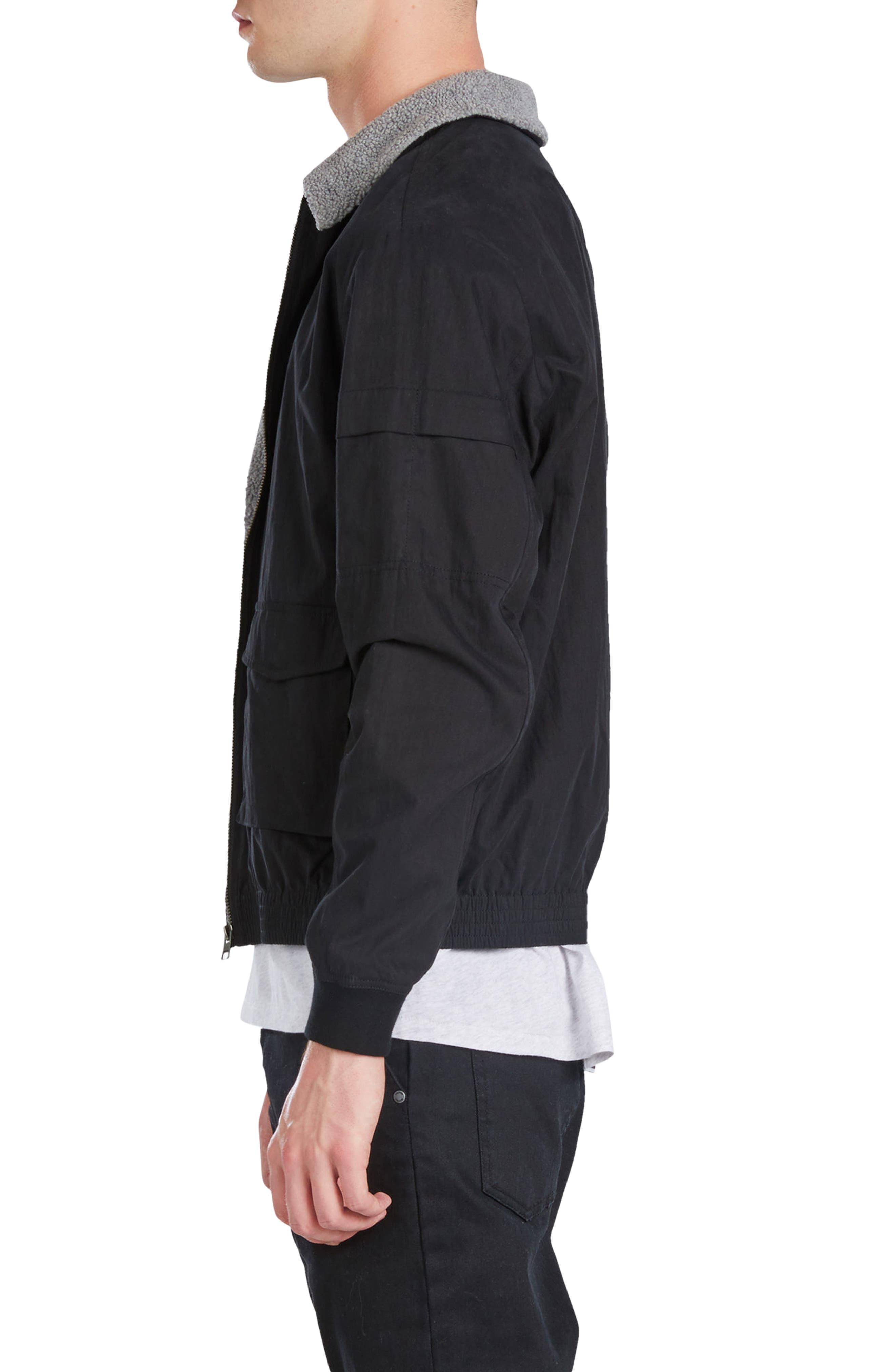 Sherpa Windbreaker Jacket,                             Alternate thumbnail 3, color,                             001