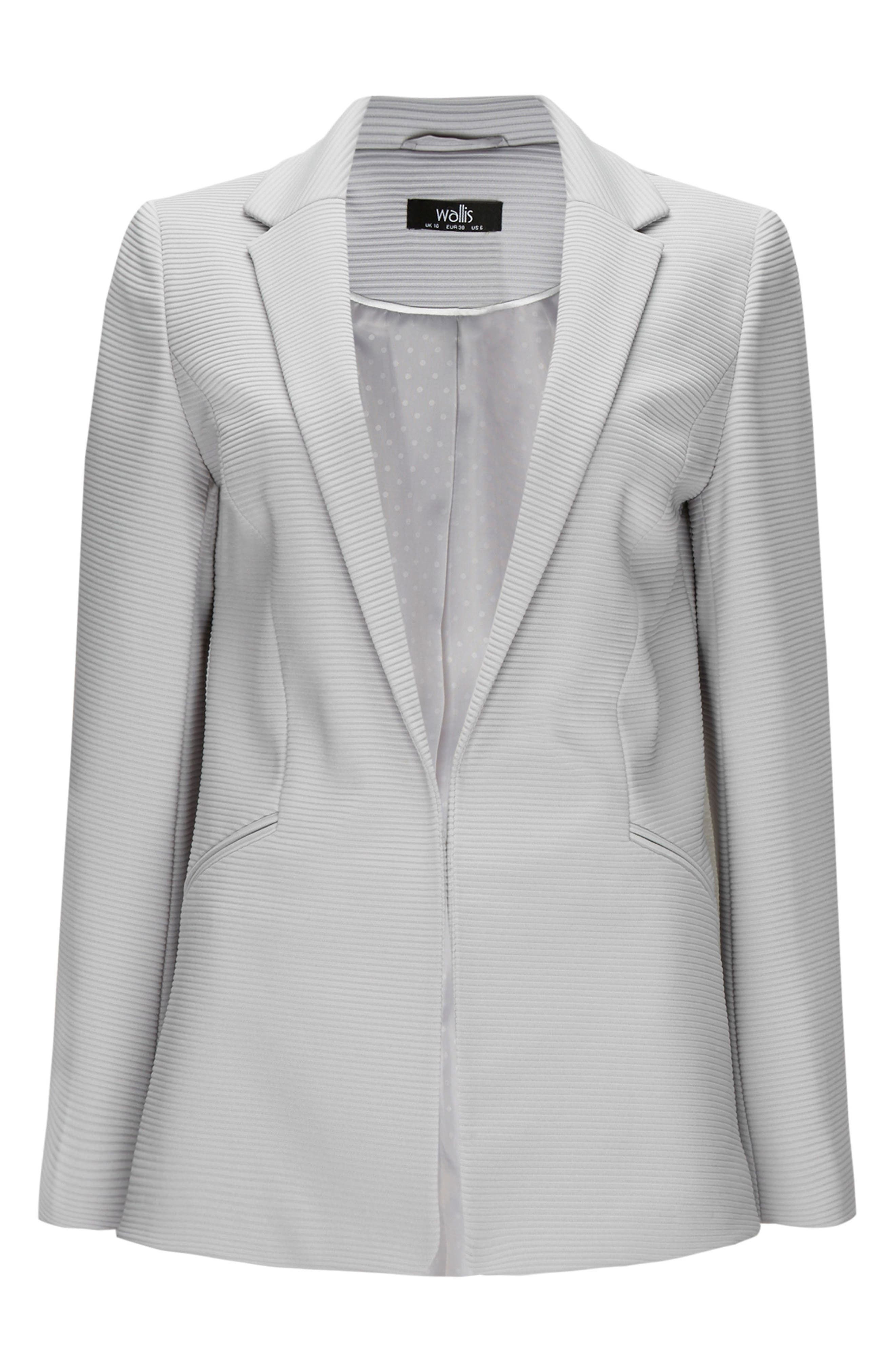 Ribbed Stretch Knit Blazer,                             Alternate thumbnail 5, color,                             020