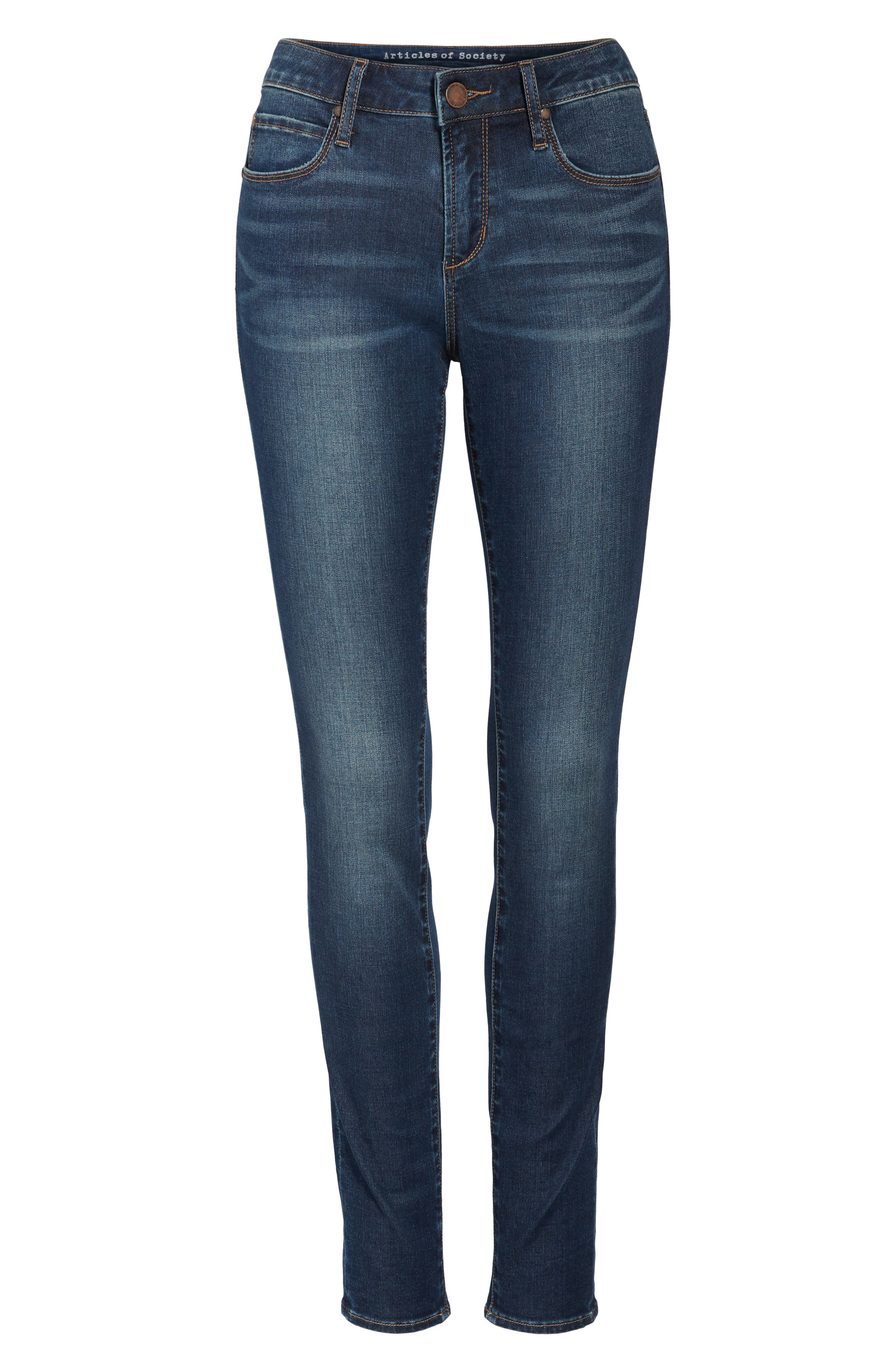 Melody Skinny Jeans,                             Alternate thumbnail 7, color,                             491