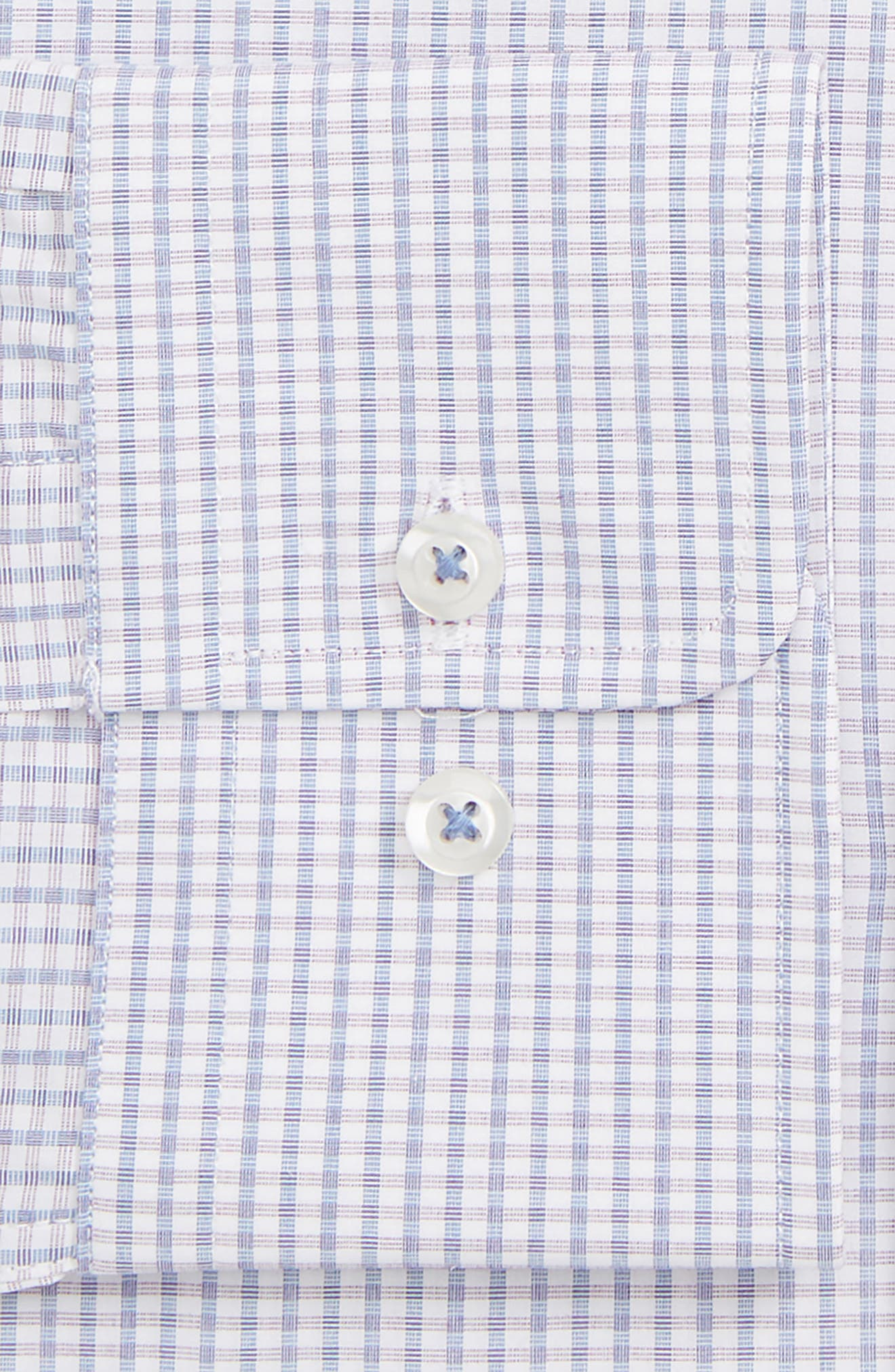 DAVID DONAHUE,                             Slim Fit Gingham Dress Shirt,                             Alternate thumbnail 2, color,                             PURPLE