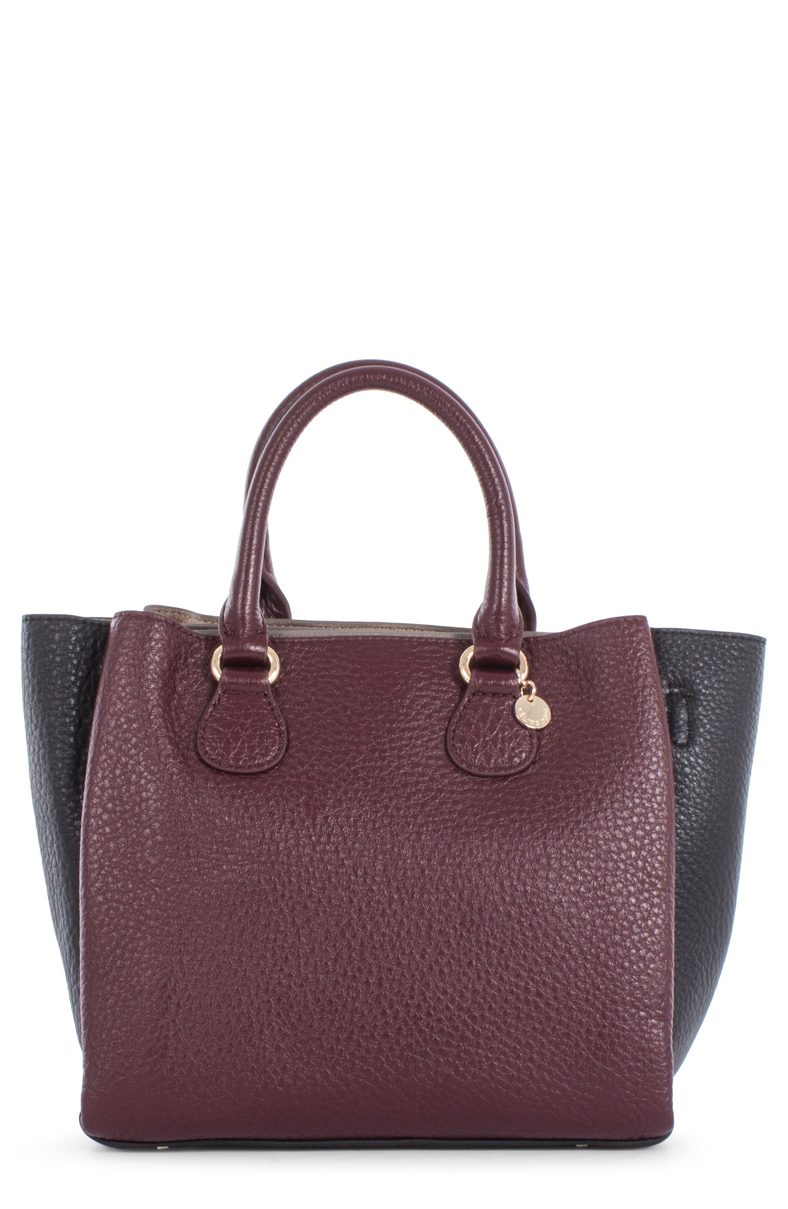 Céline Dion Adagio Tritone Leather Satchel,                         Main,                         color, WINTER WINE COMBO