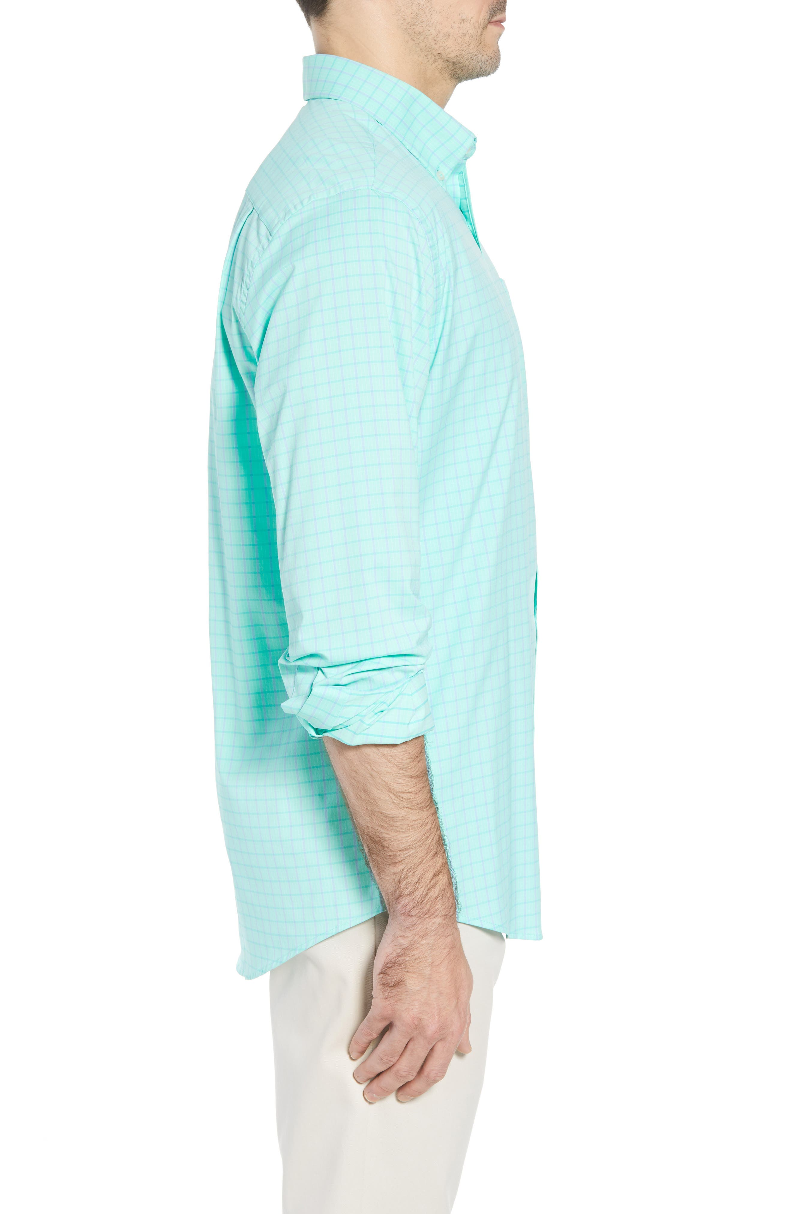 Intercoastal Gordia Plaid Sport Shirt,                             Alternate thumbnail 5, color,