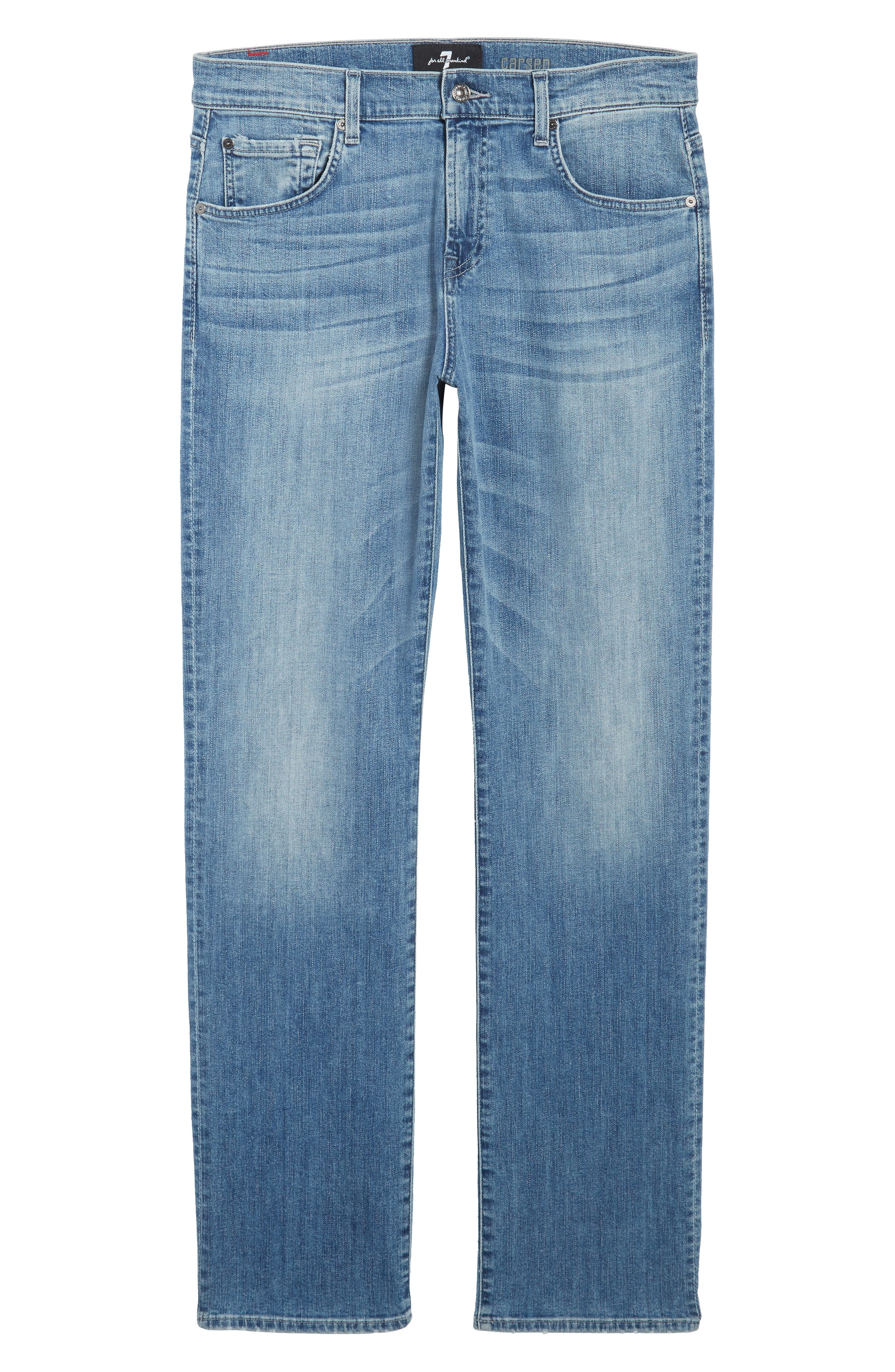 7 FOR ALL MANKIND<SUP>®</SUP>,                             Luxe Performance - Carsen Straight Leg Jeans,                             Alternate thumbnail 6, color,                             HOMAGE