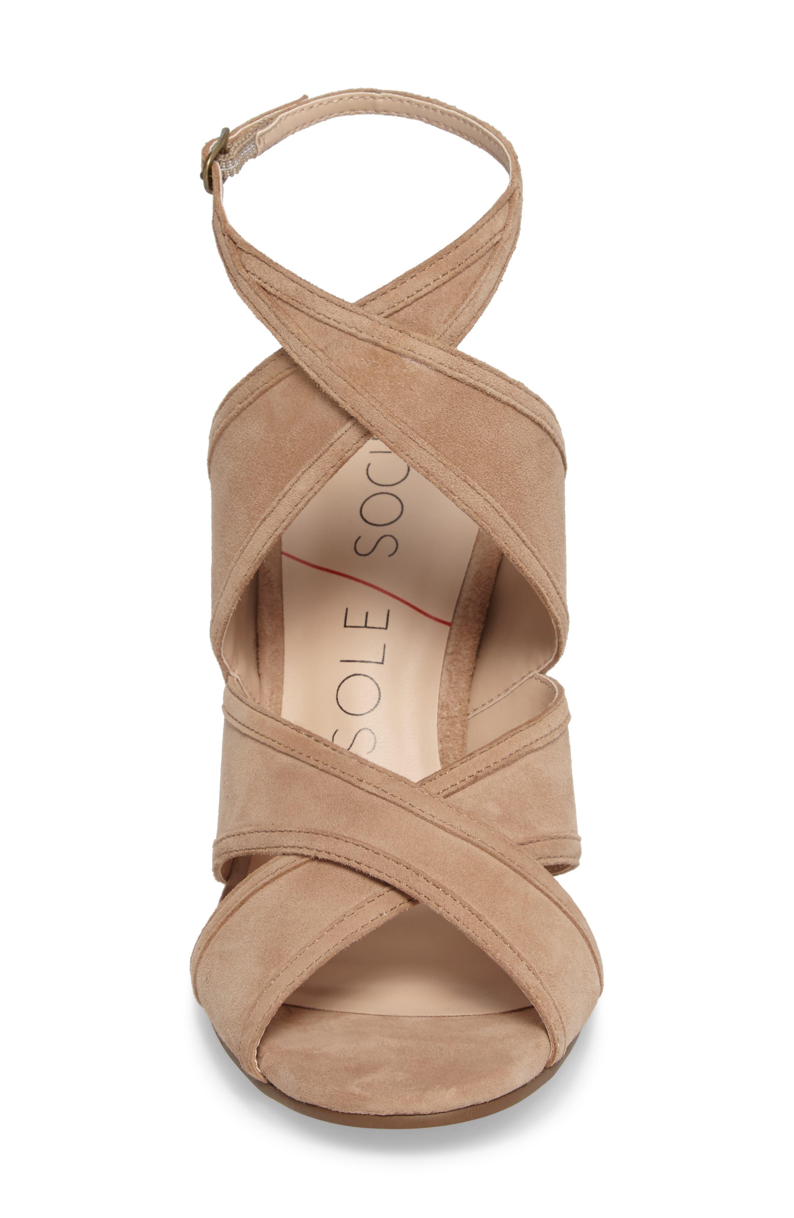 Esme Cross Strap Sandal,                             Alternate thumbnail 7, color,