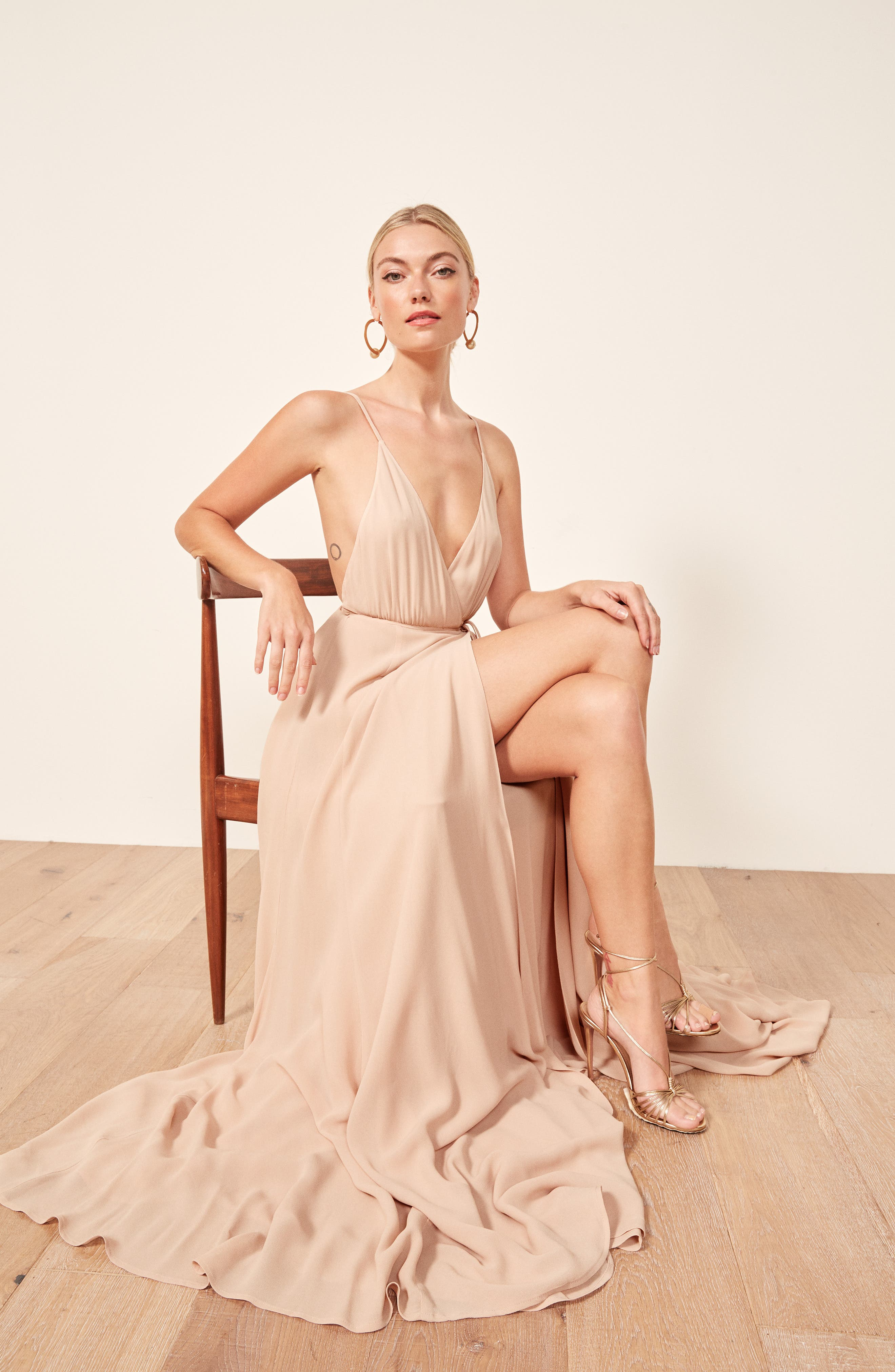 Calalilly Maxi Dress,                             Alternate thumbnail 2, color,                             CHAMPAGNE