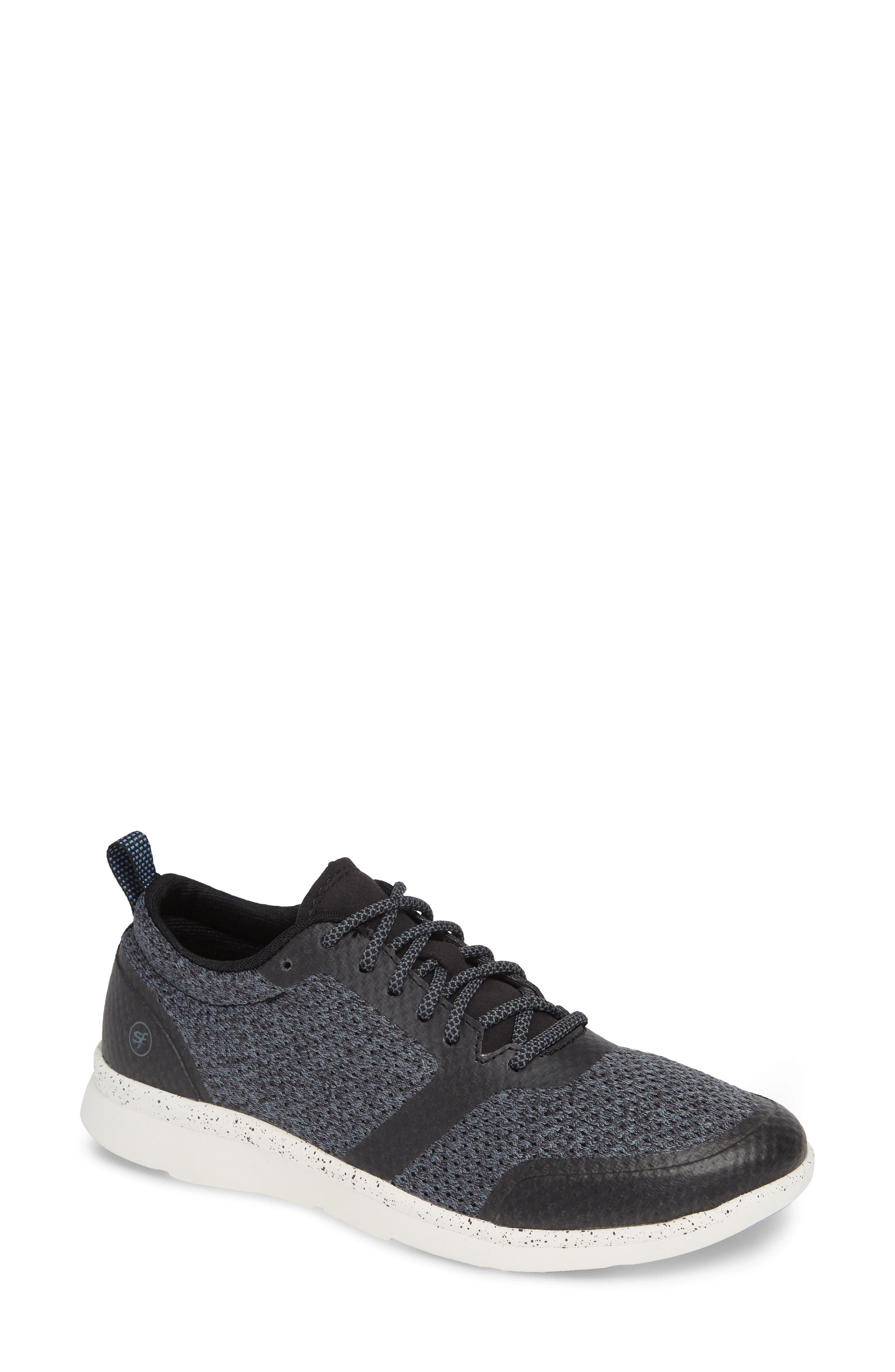 Linden Sneaker,                             Main thumbnail 1, color,                             BLACK FABRIC