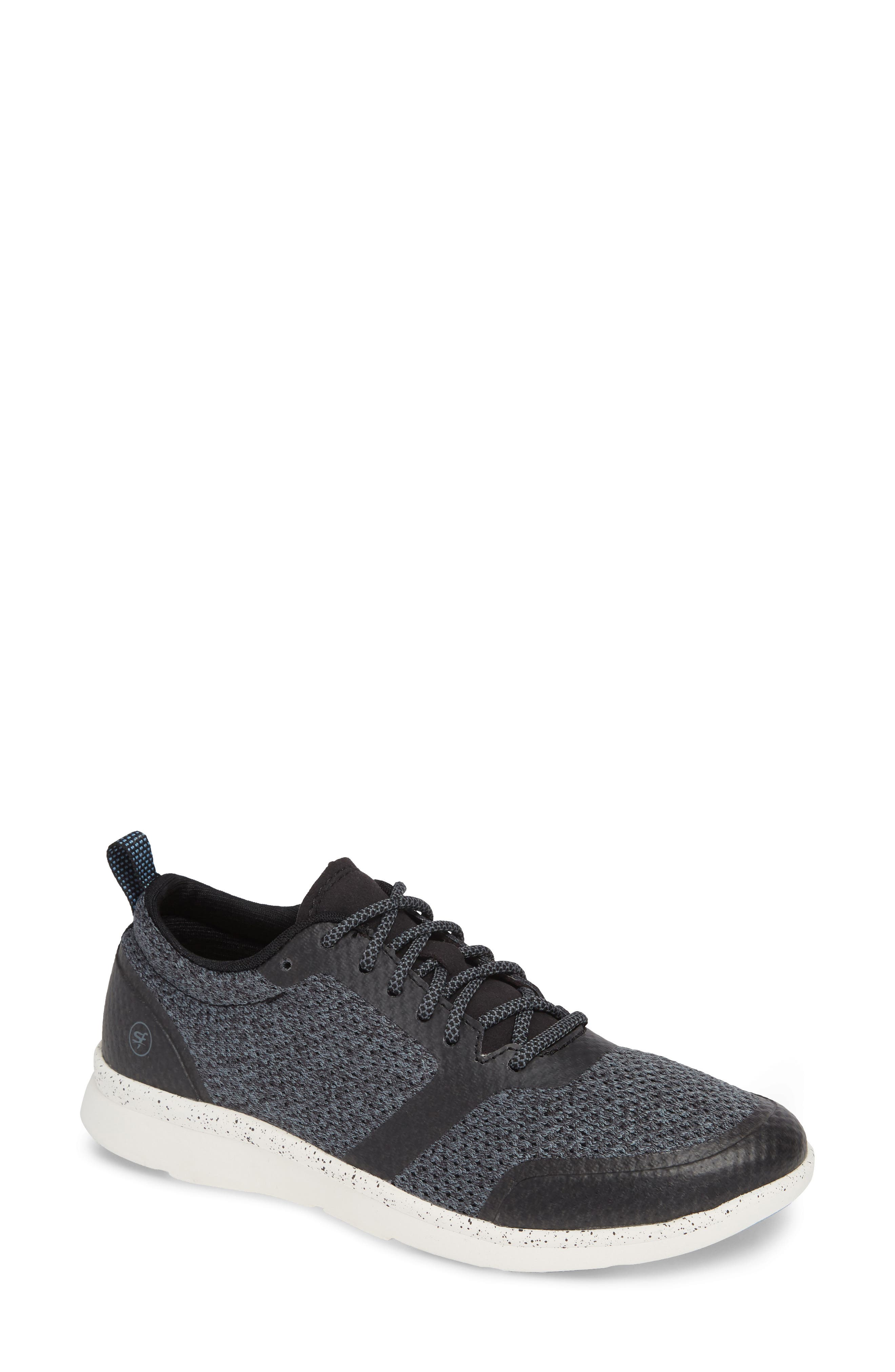Linden Sneaker,                         Main,                         color, BLACK FABRIC