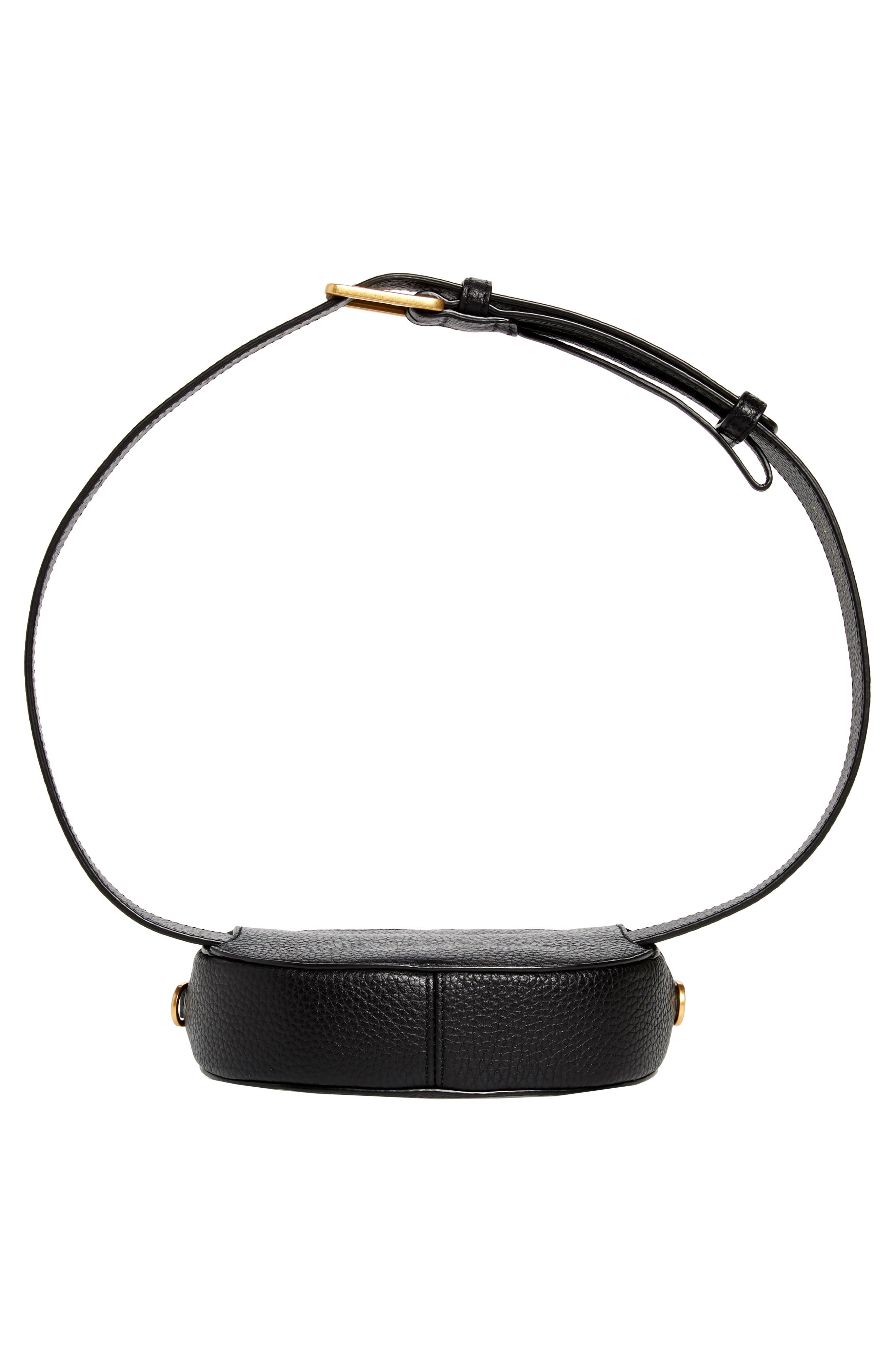 McGraw Leather Belt/Crossbody Bag,                             Alternate thumbnail 8, color,                             001