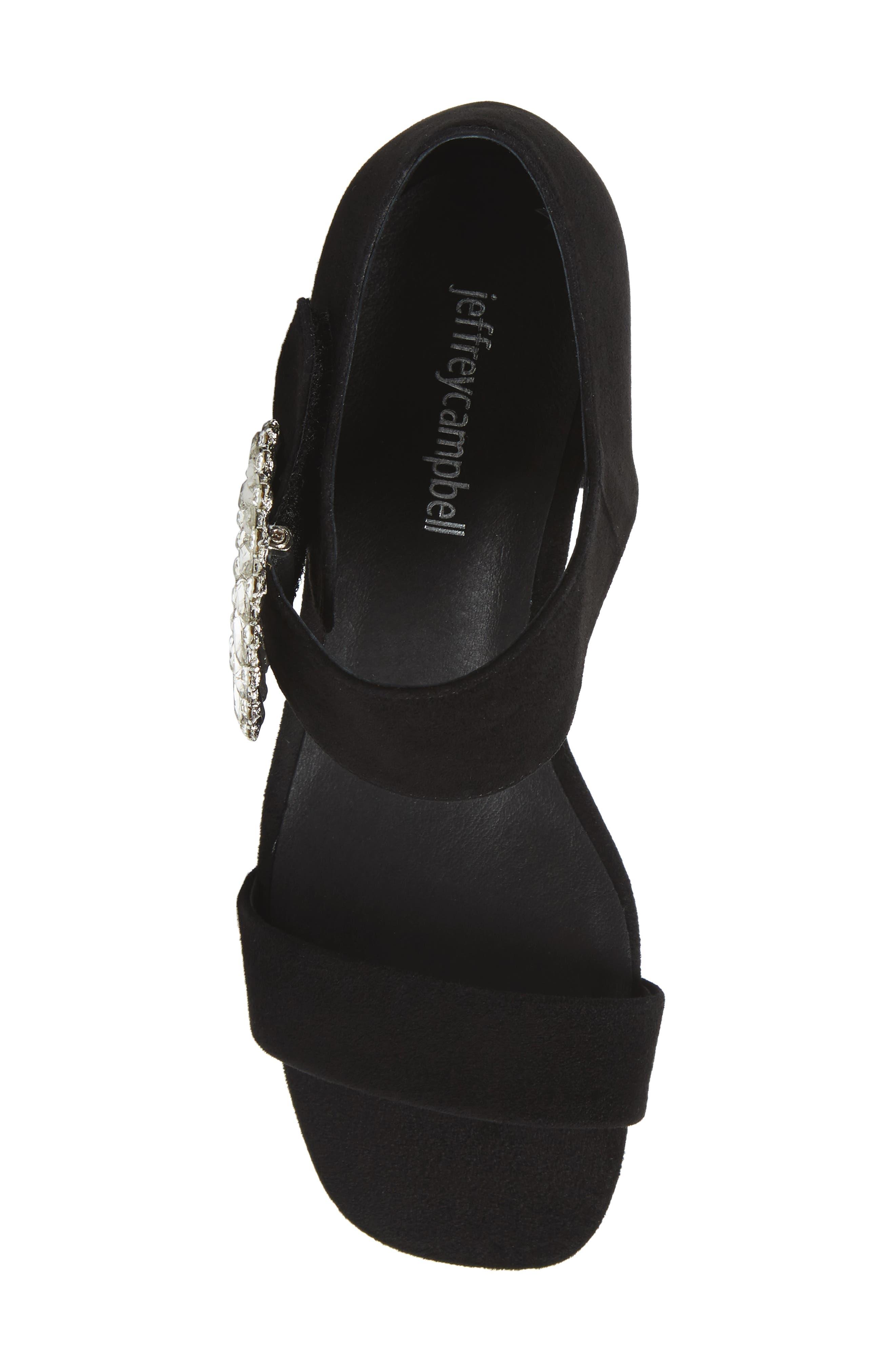Kaylene Crystal Embellished Sandal,                             Alternate thumbnail 5, color,                             001
