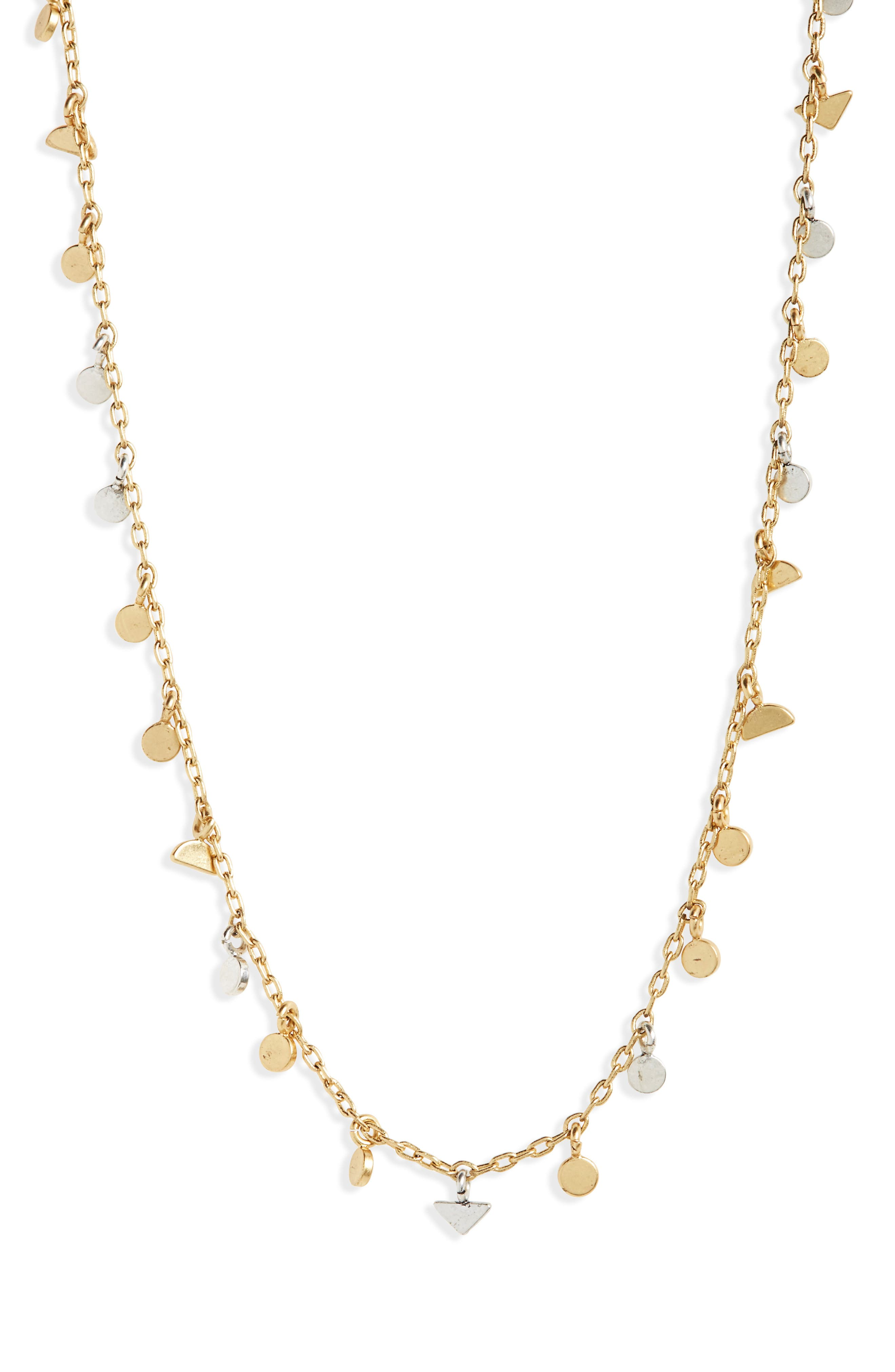 Delicate Geo Charm Choker Necklace,                             Main thumbnail 1, color,                             710