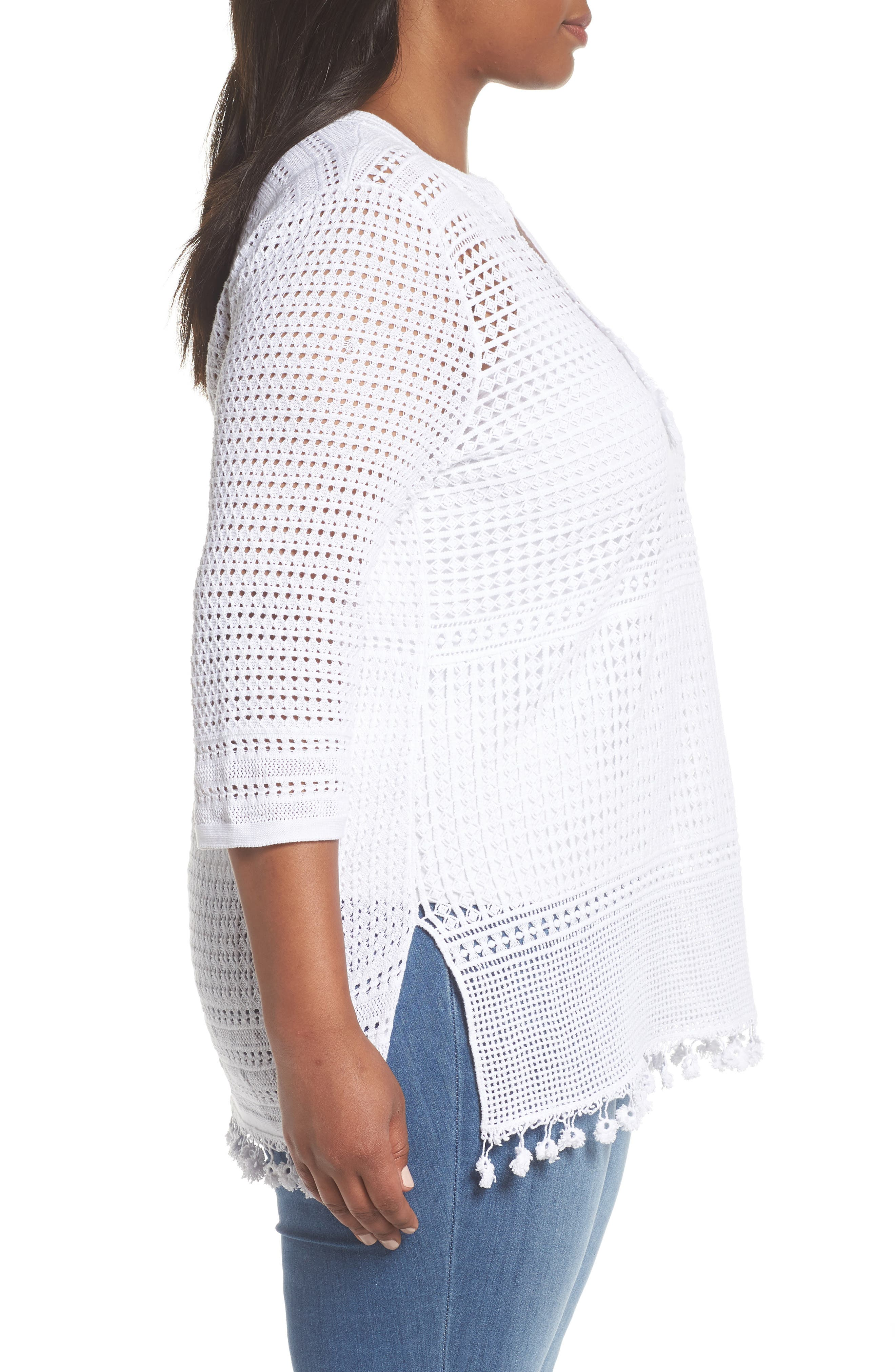 Right on Track Tunic Sweater,                             Alternate thumbnail 3, color,                             PAPER WHITE