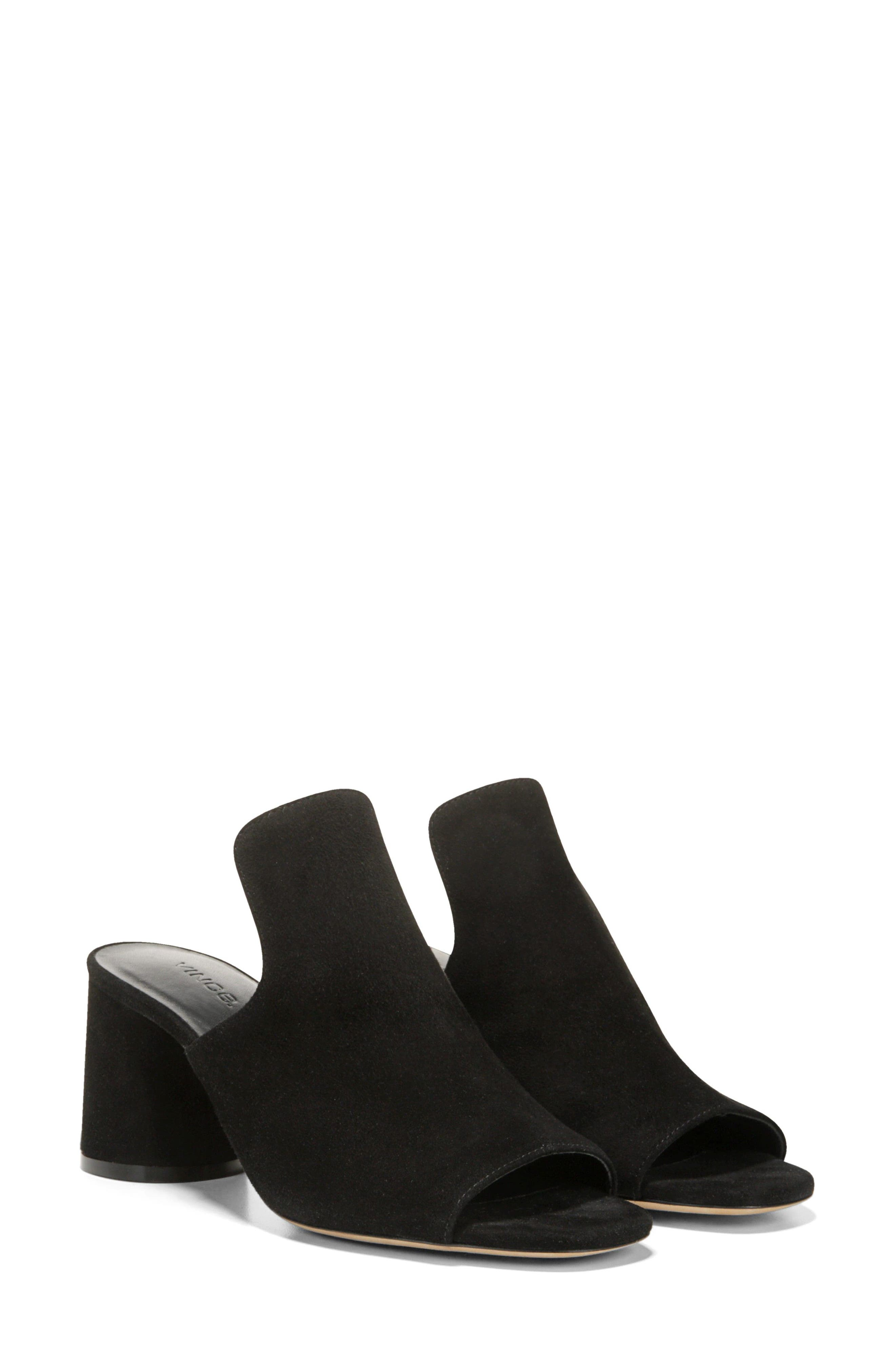 Tanay Loafer Mule,                             Alternate thumbnail 8, color,                             BLACK SUEDE LEATHER