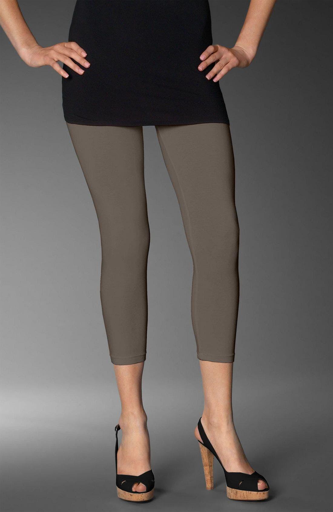Crop Stretch Knit Leggings,                         Main,                         color, 020