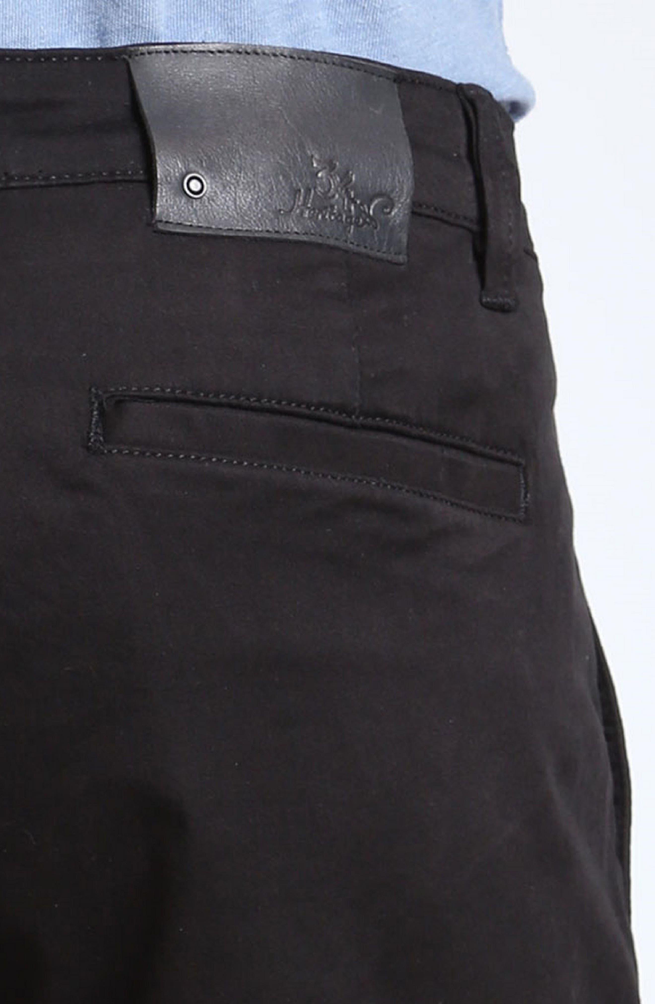 Nevada Twill Shorts,                             Alternate thumbnail 4, color,                             BLACK TWILL