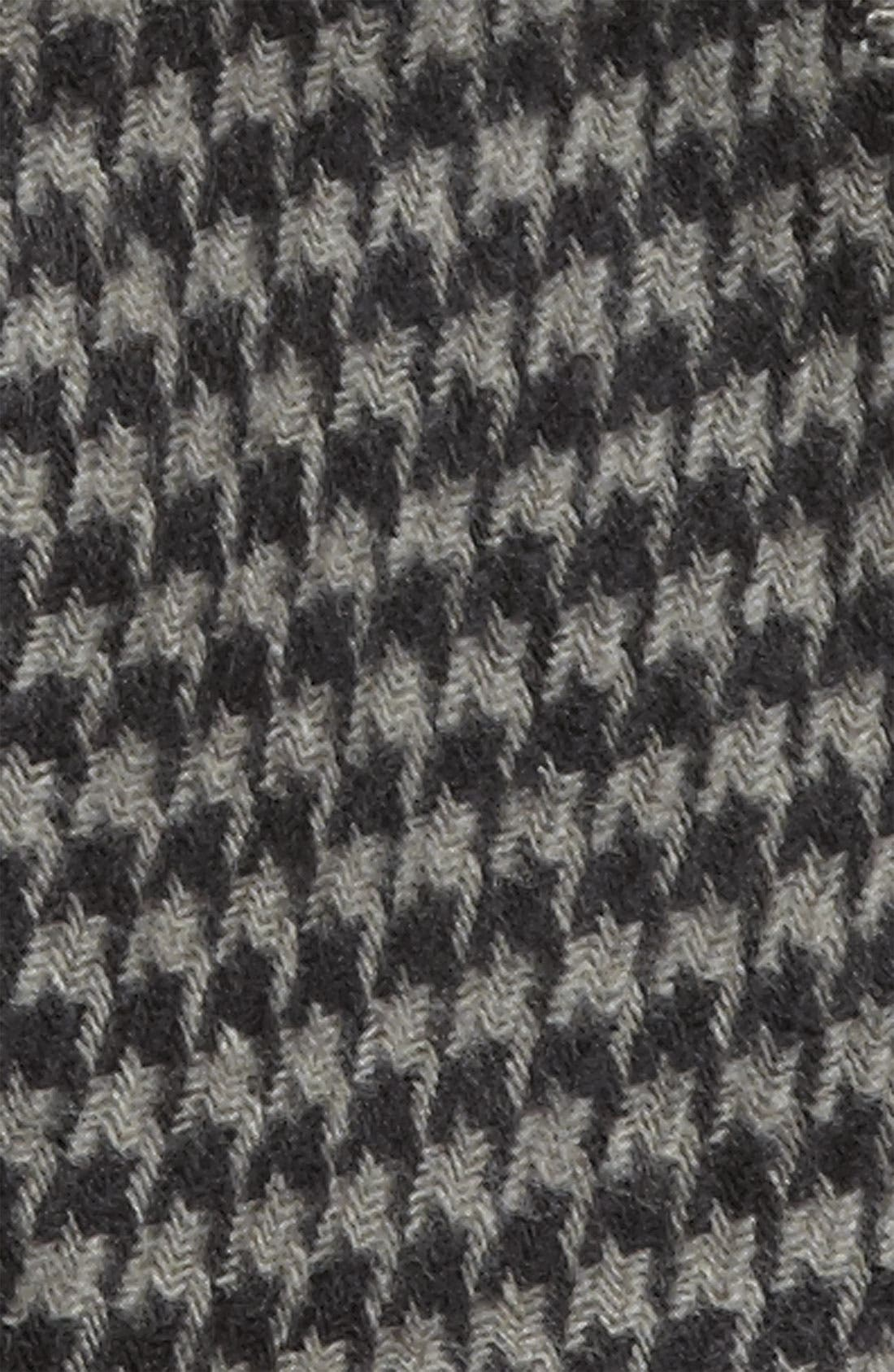 Mini Houndstooth Knit Scarf,                             Alternate thumbnail 2, color,                             001