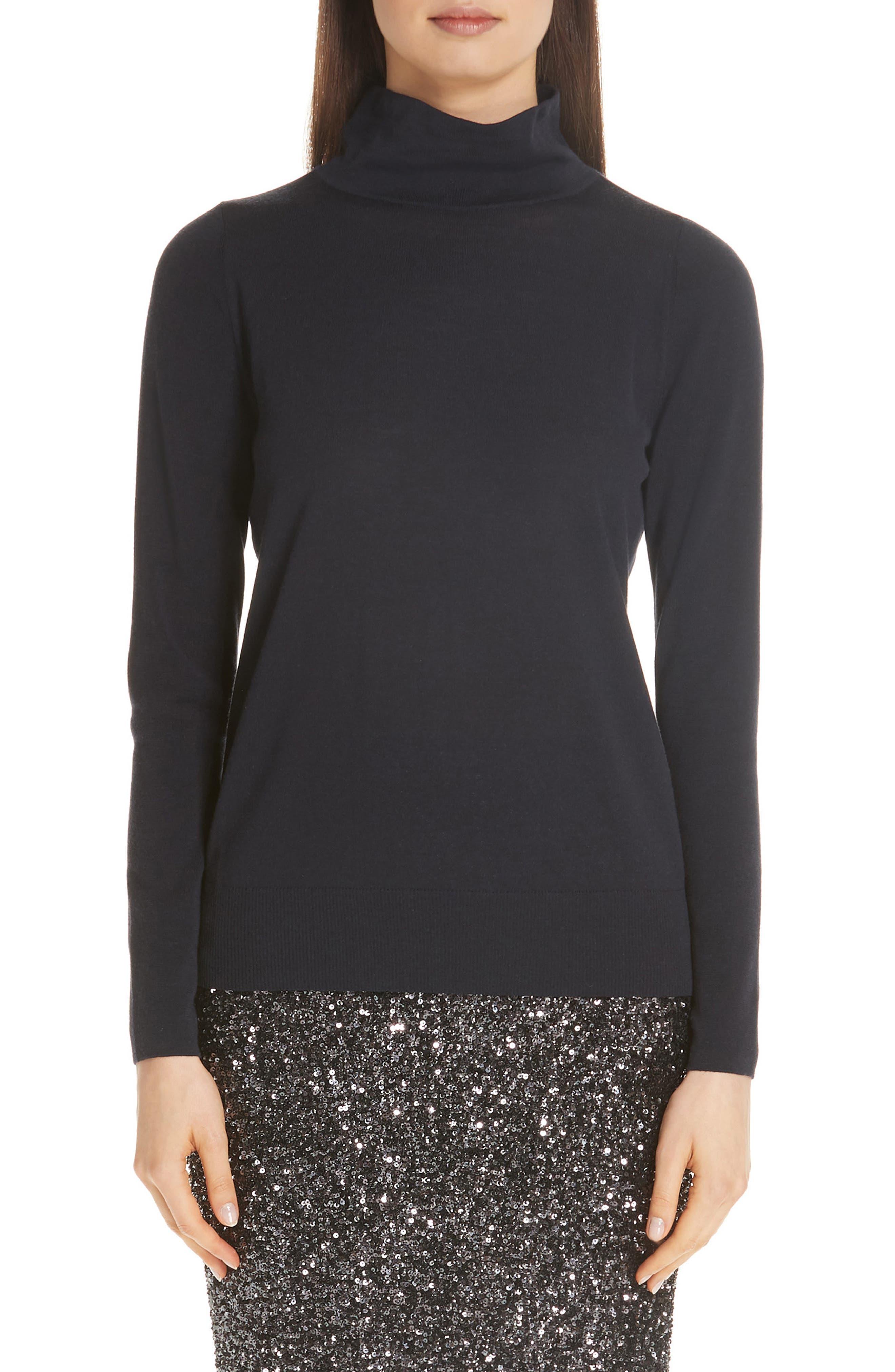 Merino Wool Modern Turtleneck Sweater, Main, color, 479