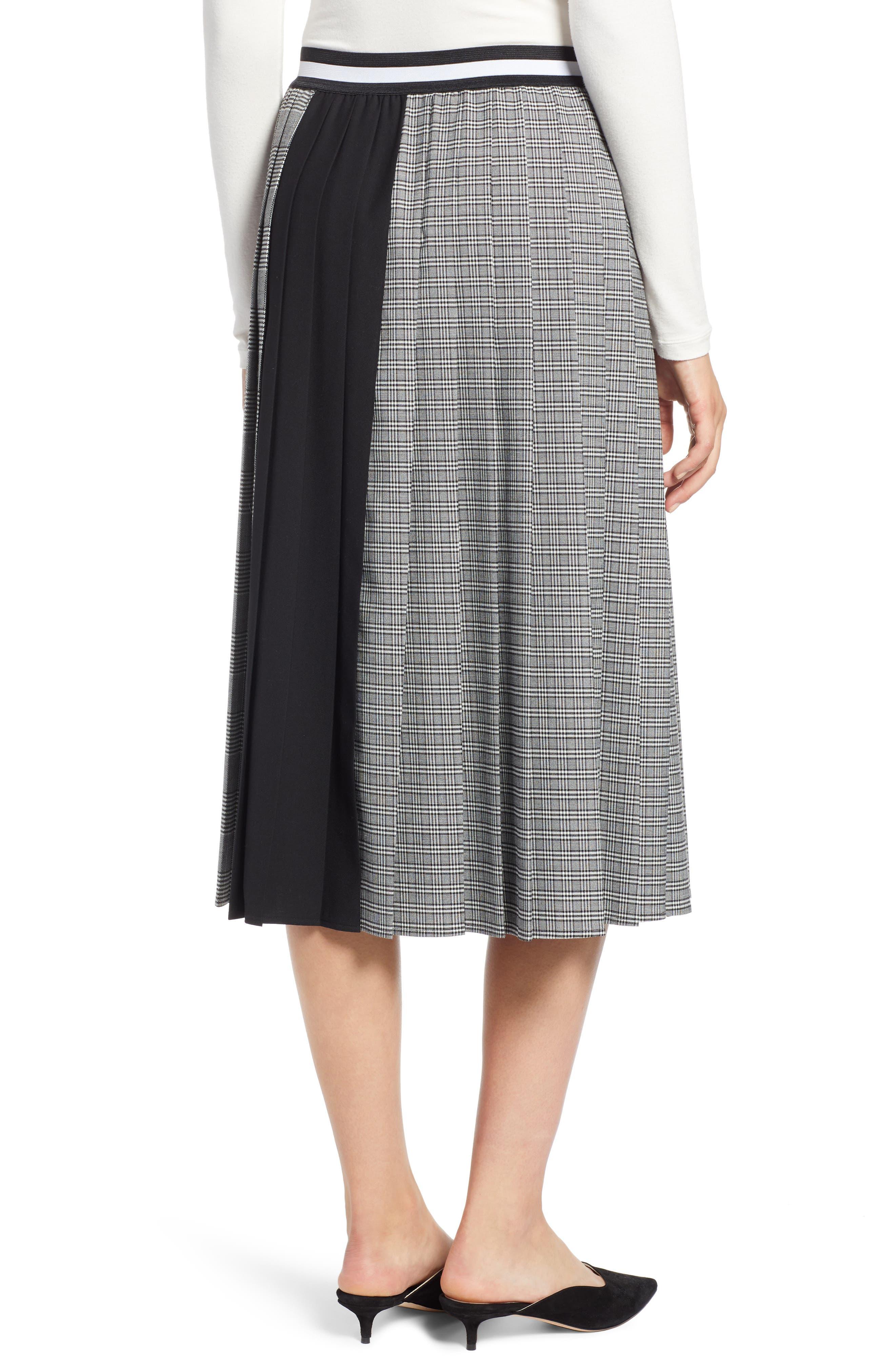 Plaid A-Line Skirt,                             Alternate thumbnail 2, color,                             001
