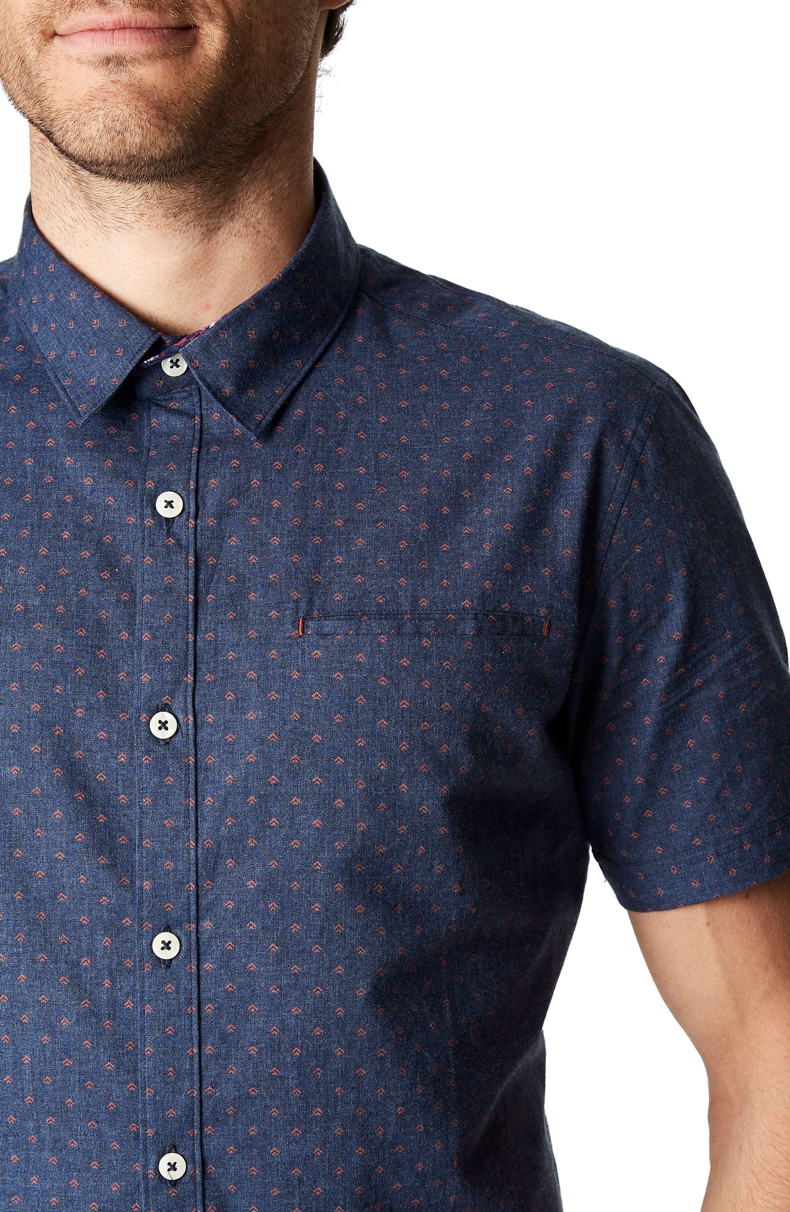 American Dream Trim Fit Sport Shirt,                             Alternate thumbnail 3, color,                             410