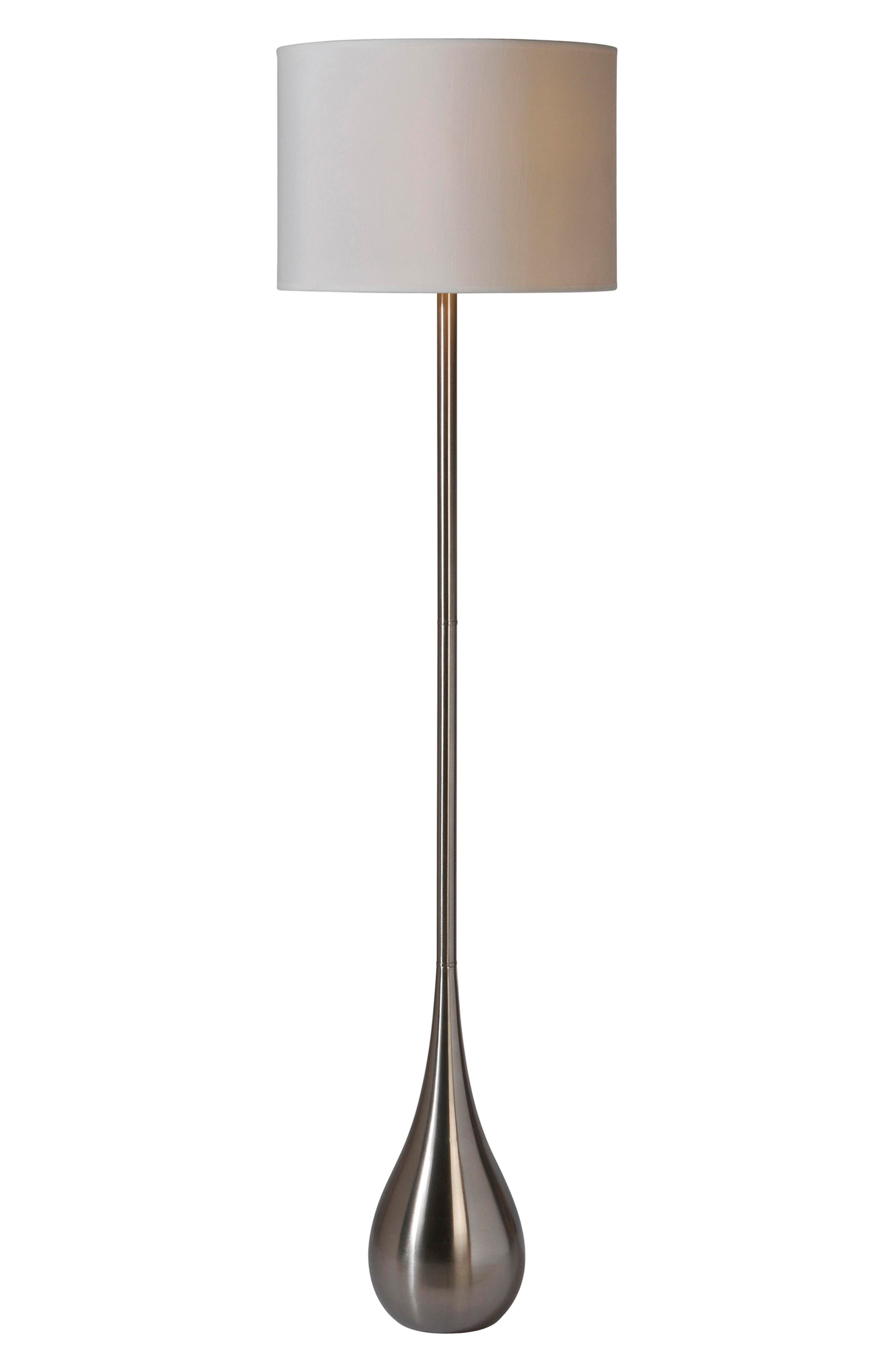 Satin Nickel Floor Lamp,                             Main thumbnail 1, color,                             040