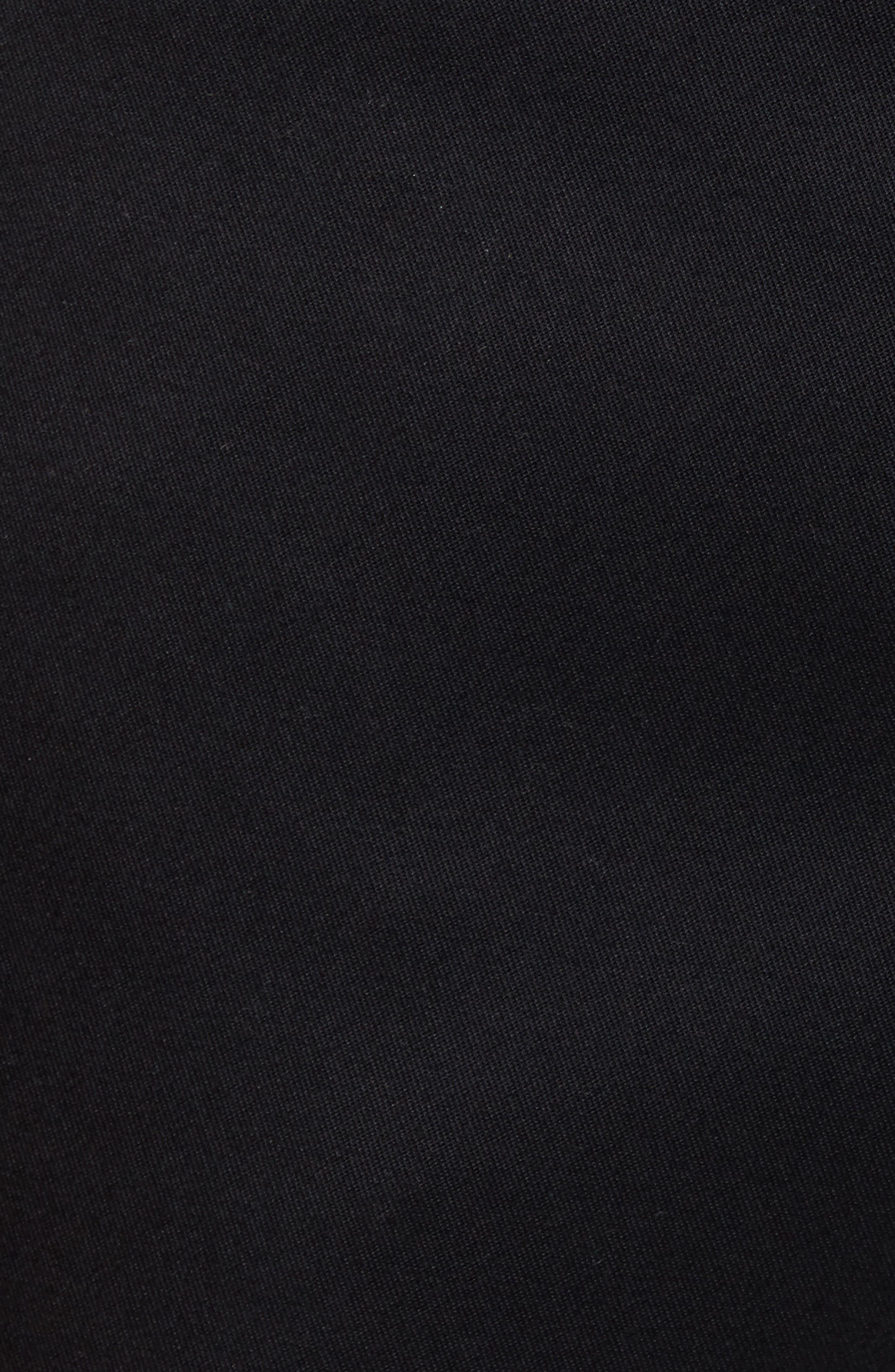 Slim Fit Non-Iron Chinos,                             Alternate thumbnail 5, color,                             BLACK