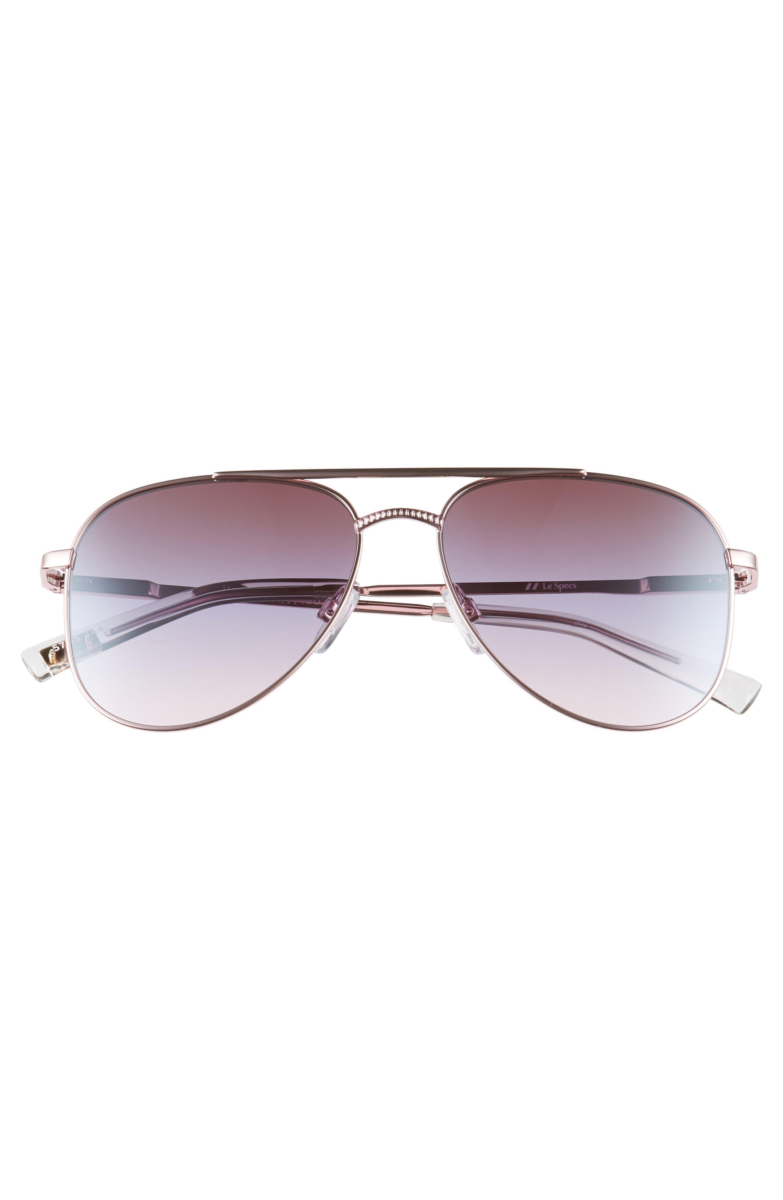 Kingdom 57mm Aviator Sunglasses,                             Alternate thumbnail 3, color,                             ROSE GOLD