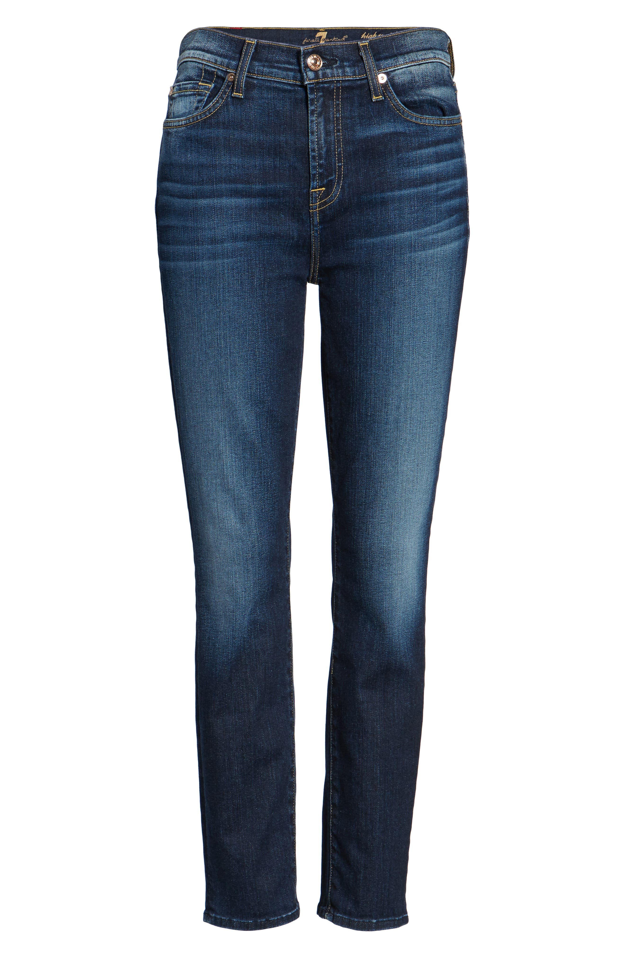Seven7 Roxanne High Waist Ankle Jeans,                             Alternate thumbnail 6, color,                             401
