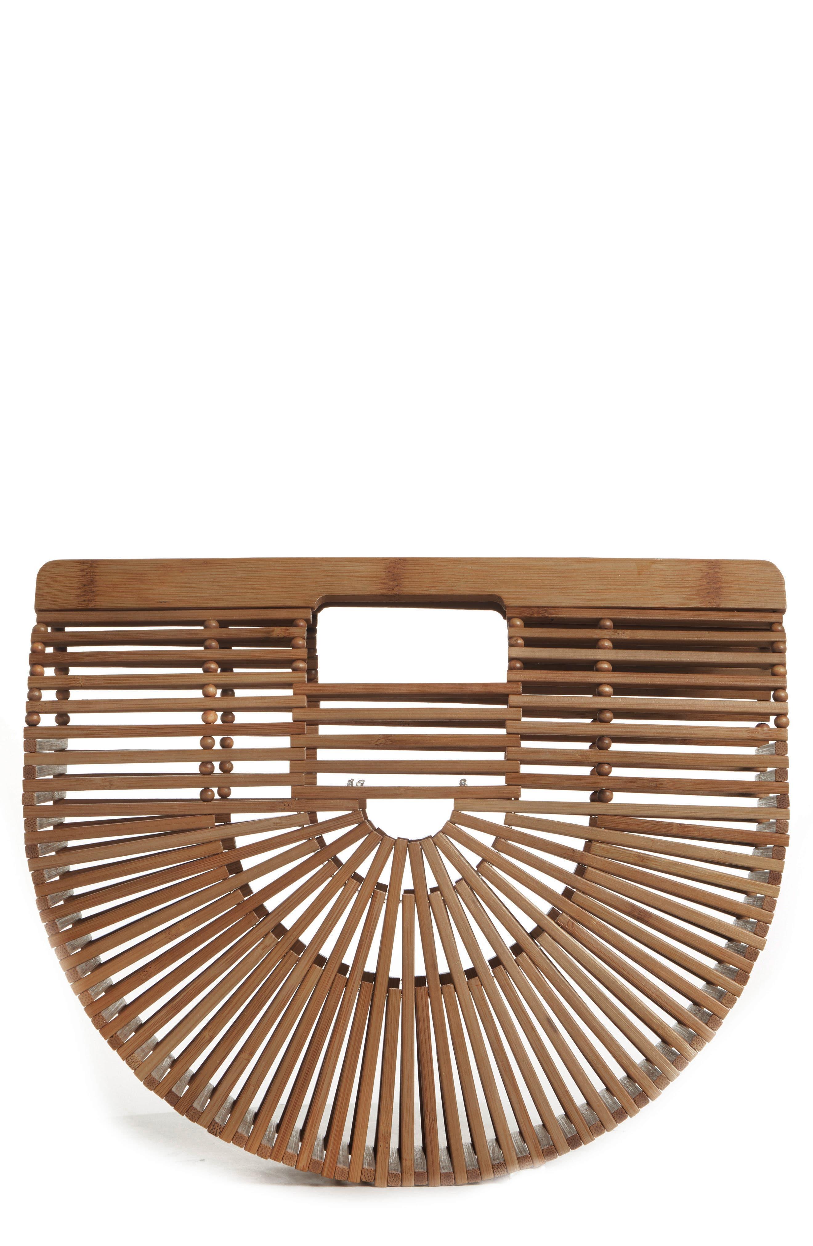 Small Ark Bamboo Handbag,                             Main thumbnail 1, color,                             CHESTNUT
