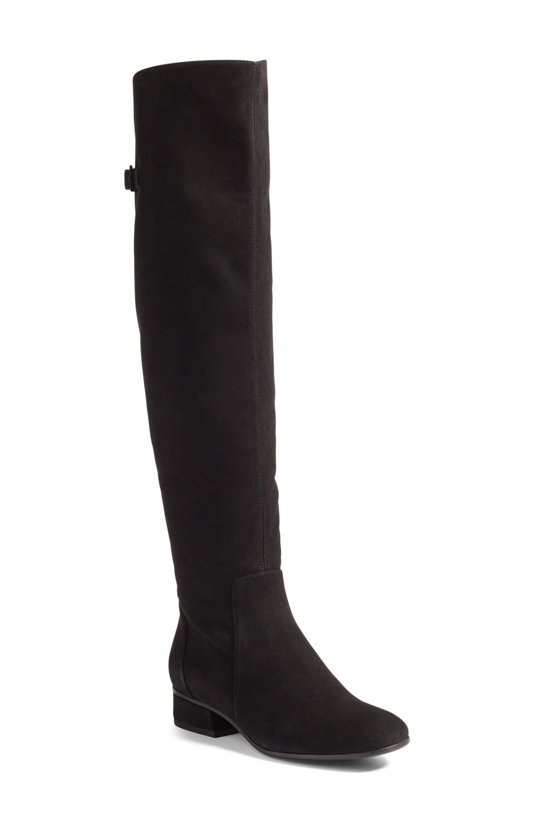 Lala Weatherproof Over the Knee Boot,                             Main thumbnail 1, color,                             001