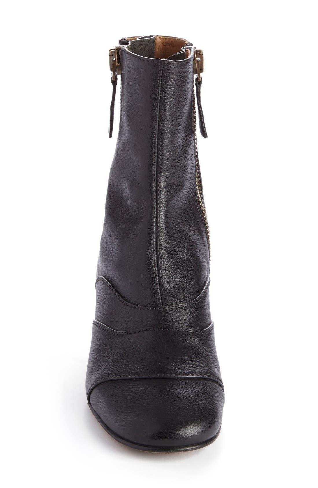 'Lexie' Block Heel Boot,                             Alternate thumbnail 3, color,                             001