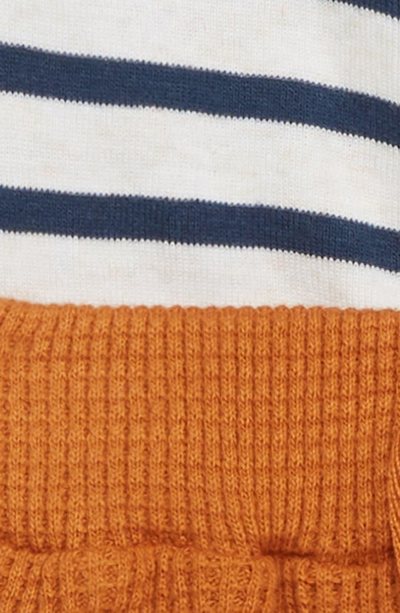Stripe Hooded Bodysuit & Thermal Pants Set,                             Alternate thumbnail 2, color,                             900