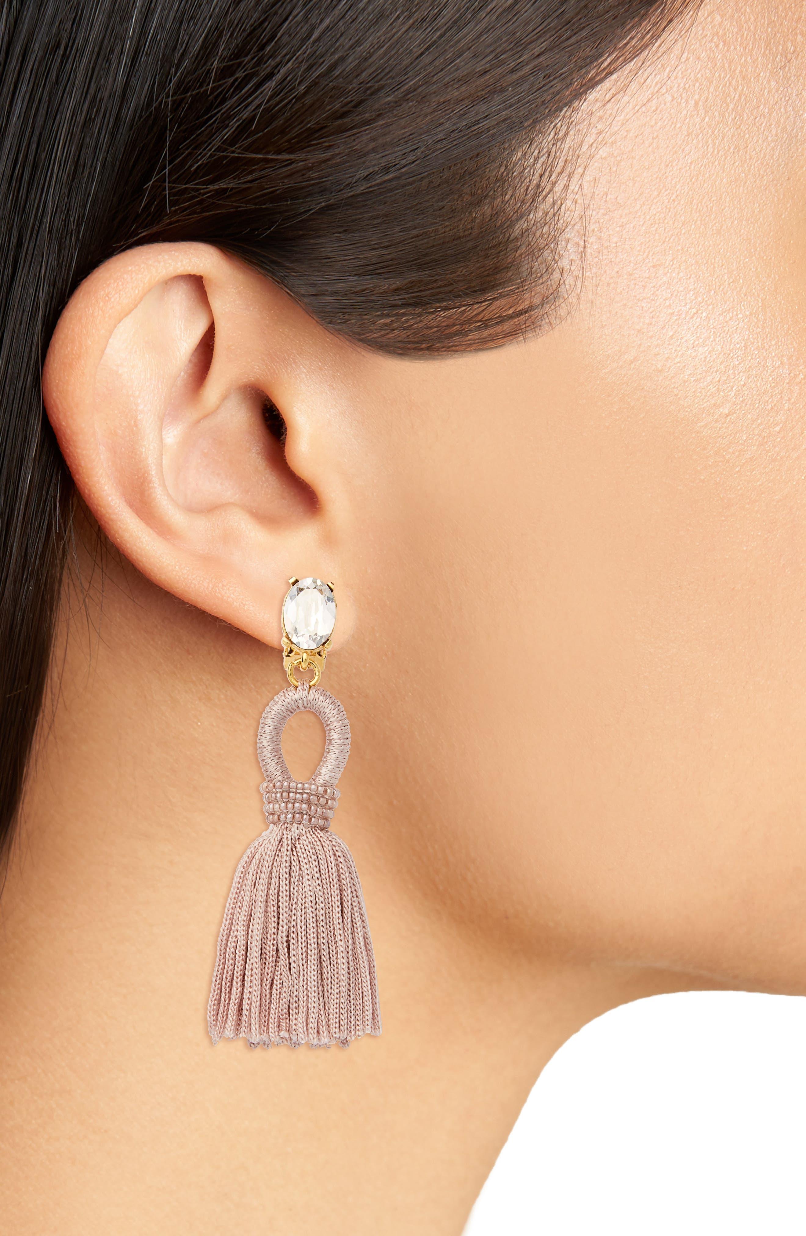 Silk Tassel Drop Earrings,                             Alternate thumbnail 11, color,