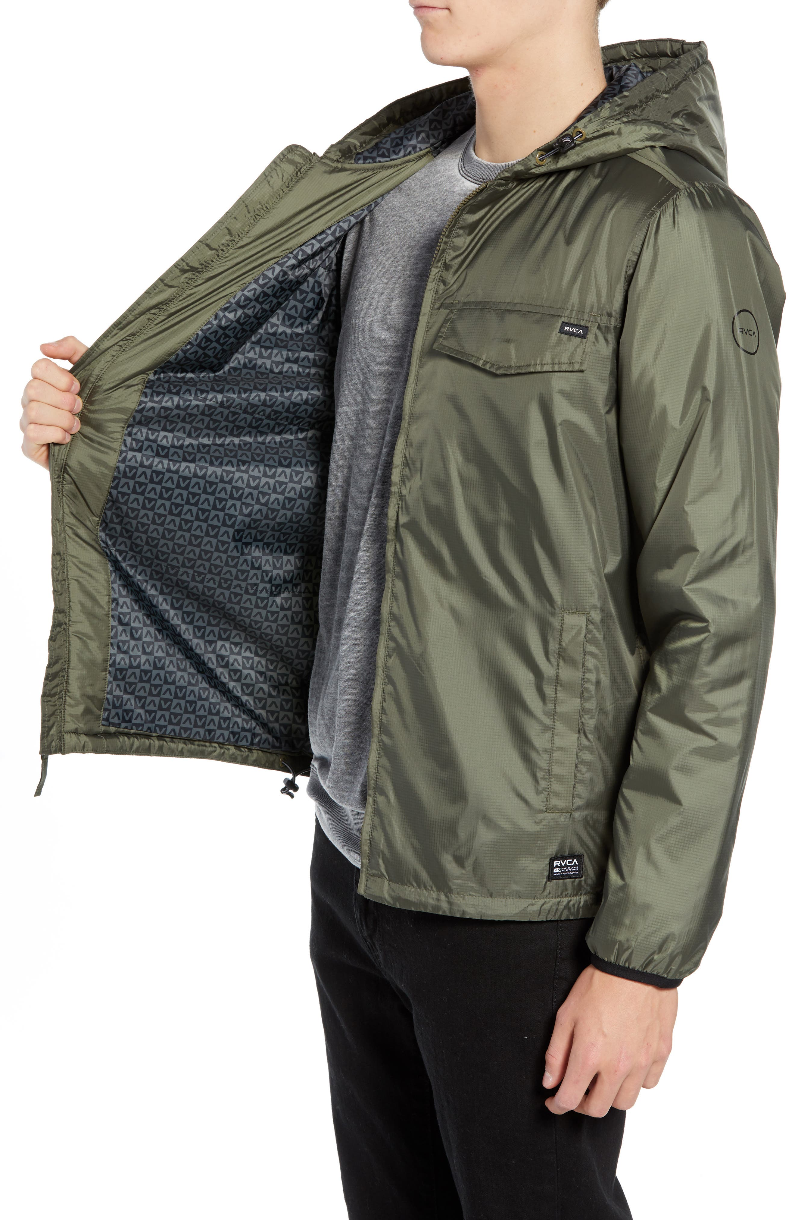 Tracer Jacket,                             Alternate thumbnail 3, color,                             OLIVE