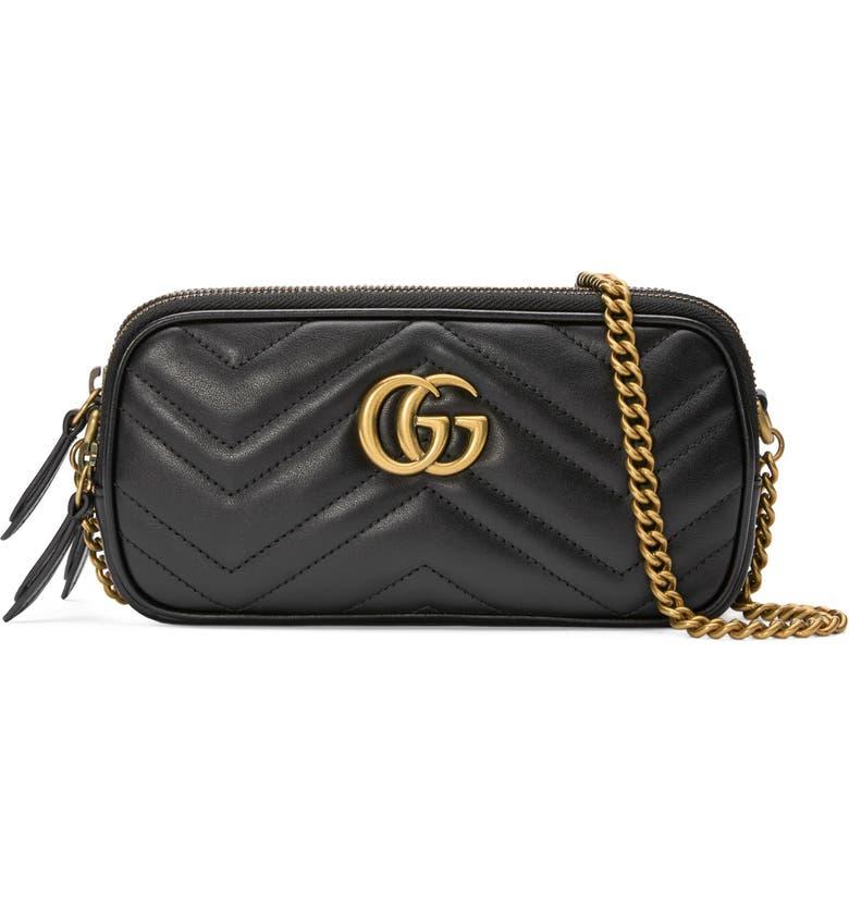 9ddc5266f5f Gucci Marmont 2.0 Leather Crossbody Bag
