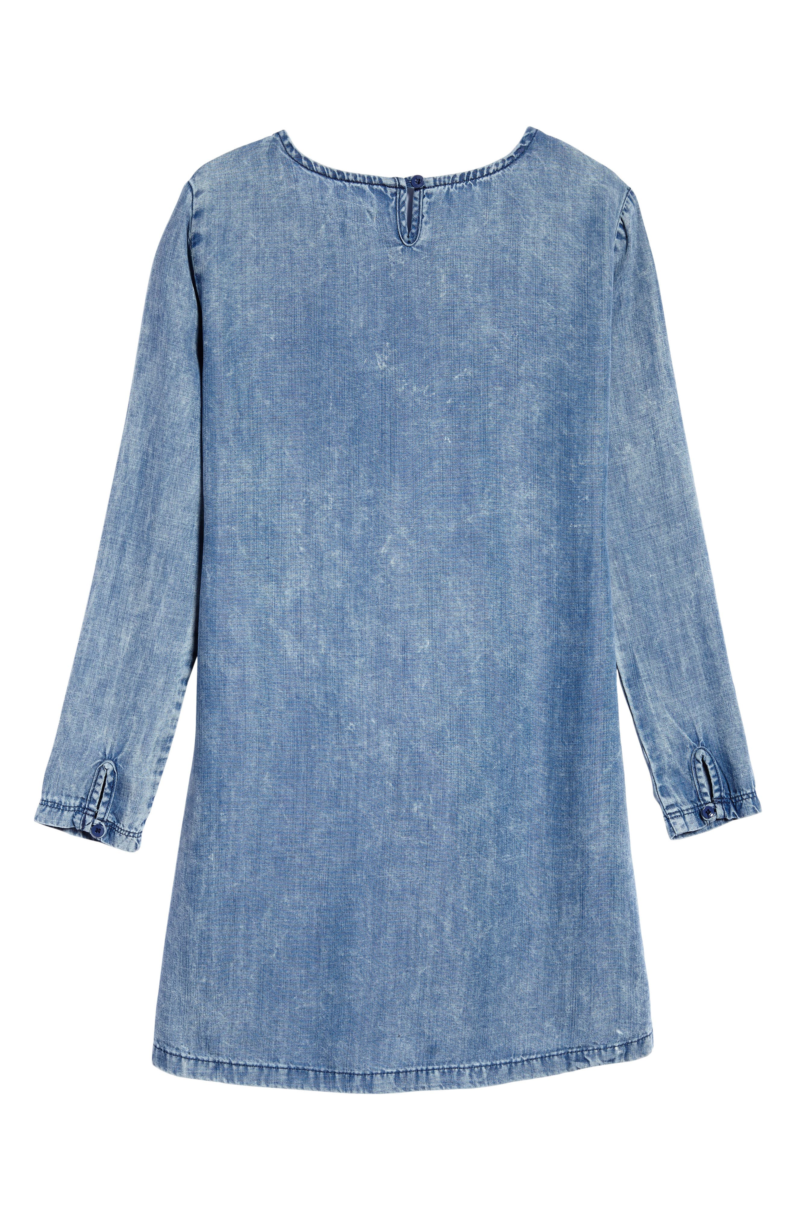 Tie Front Chambray Dress,                             Alternate thumbnail 2, color,                             400