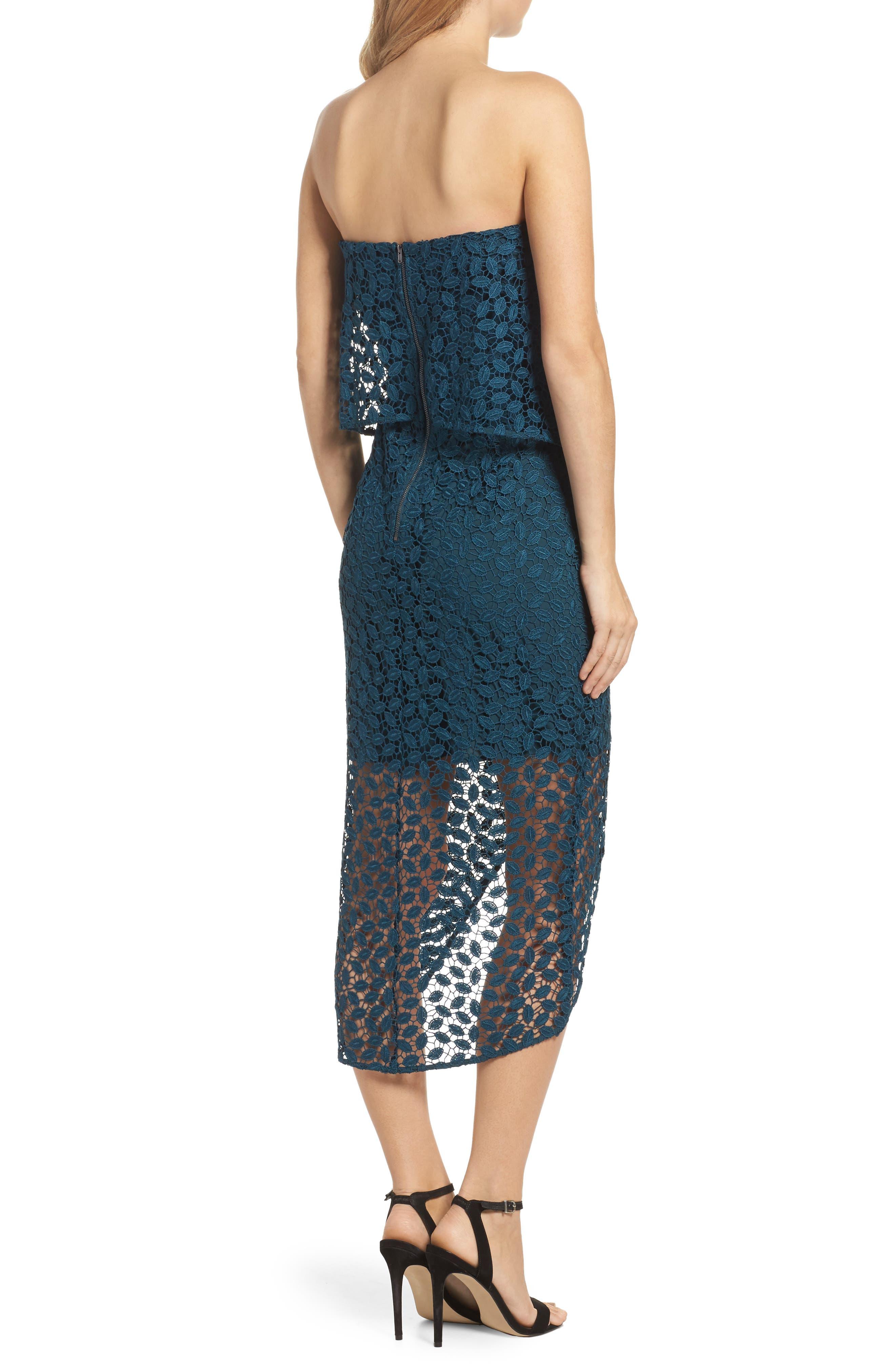 Strapless Popover Dress,                             Alternate thumbnail 2, color,                             440