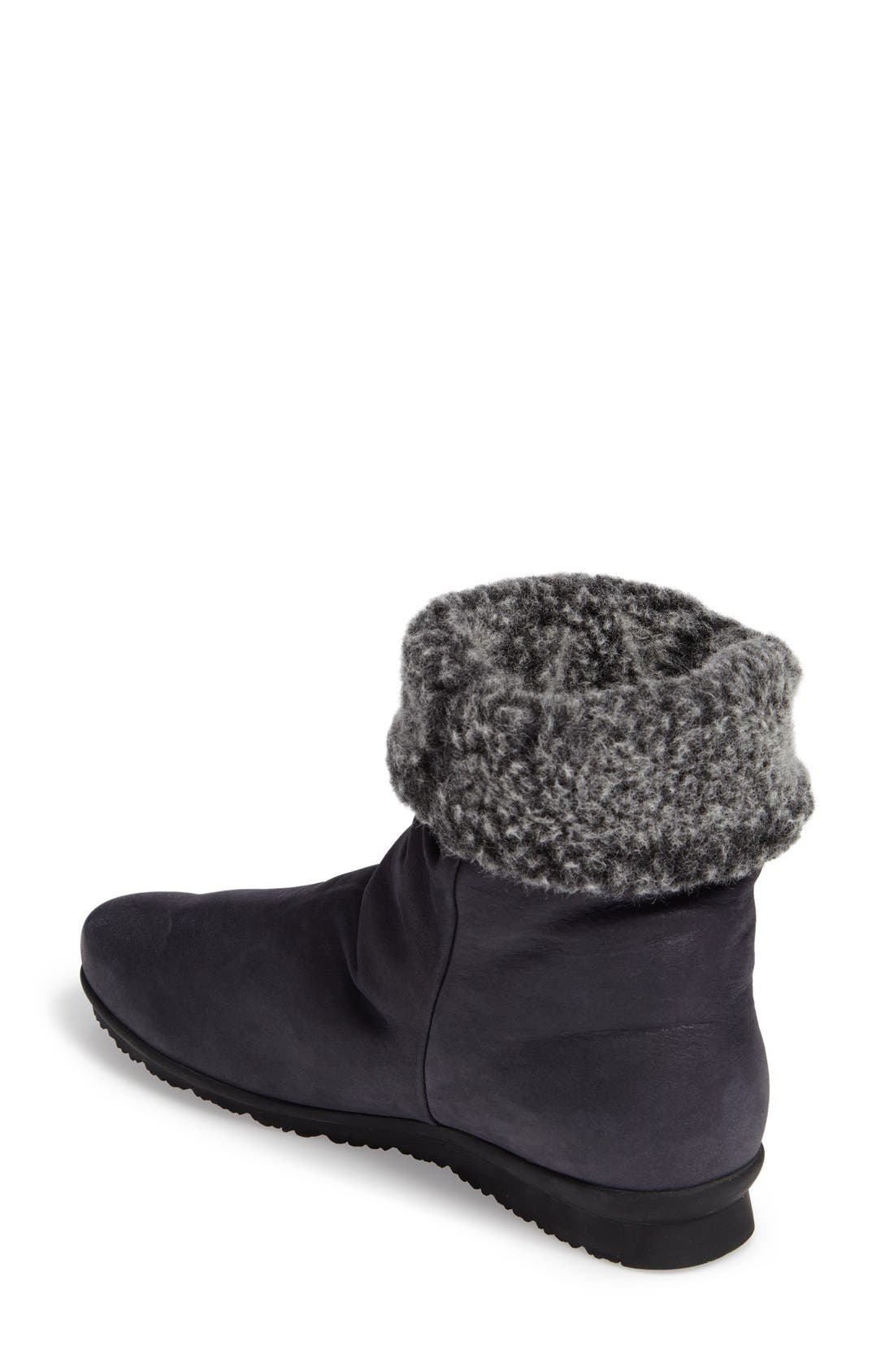 Barosa Faux Shearling Cuffed Bootie,                             Alternate thumbnail 6, color,