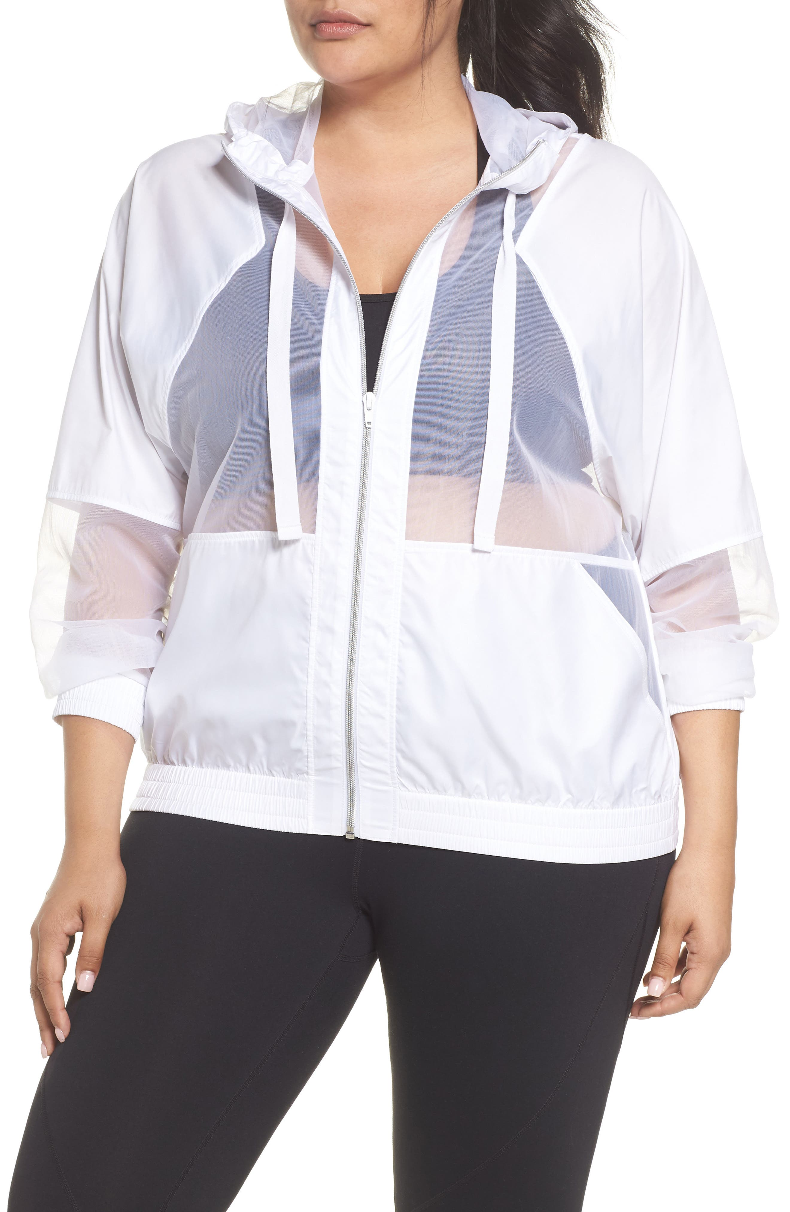 Sheer Mix Jacket,                         Main,                         color, 100