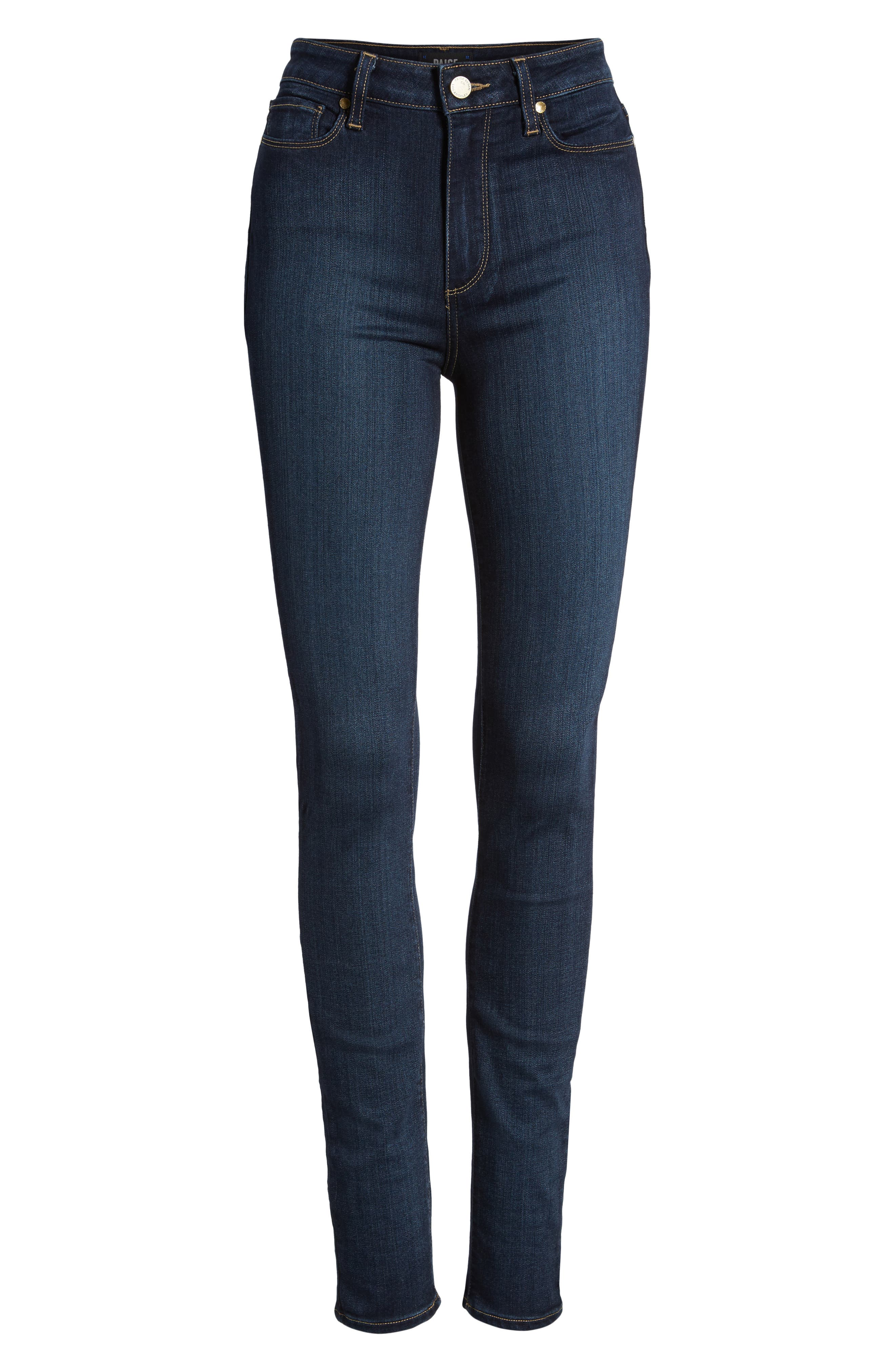 PAIGE,                             Transcend - Margot High Waist Ultra Skinny Jeans,                             Alternate thumbnail 3, color,                             LA RUE NO WHISKERS