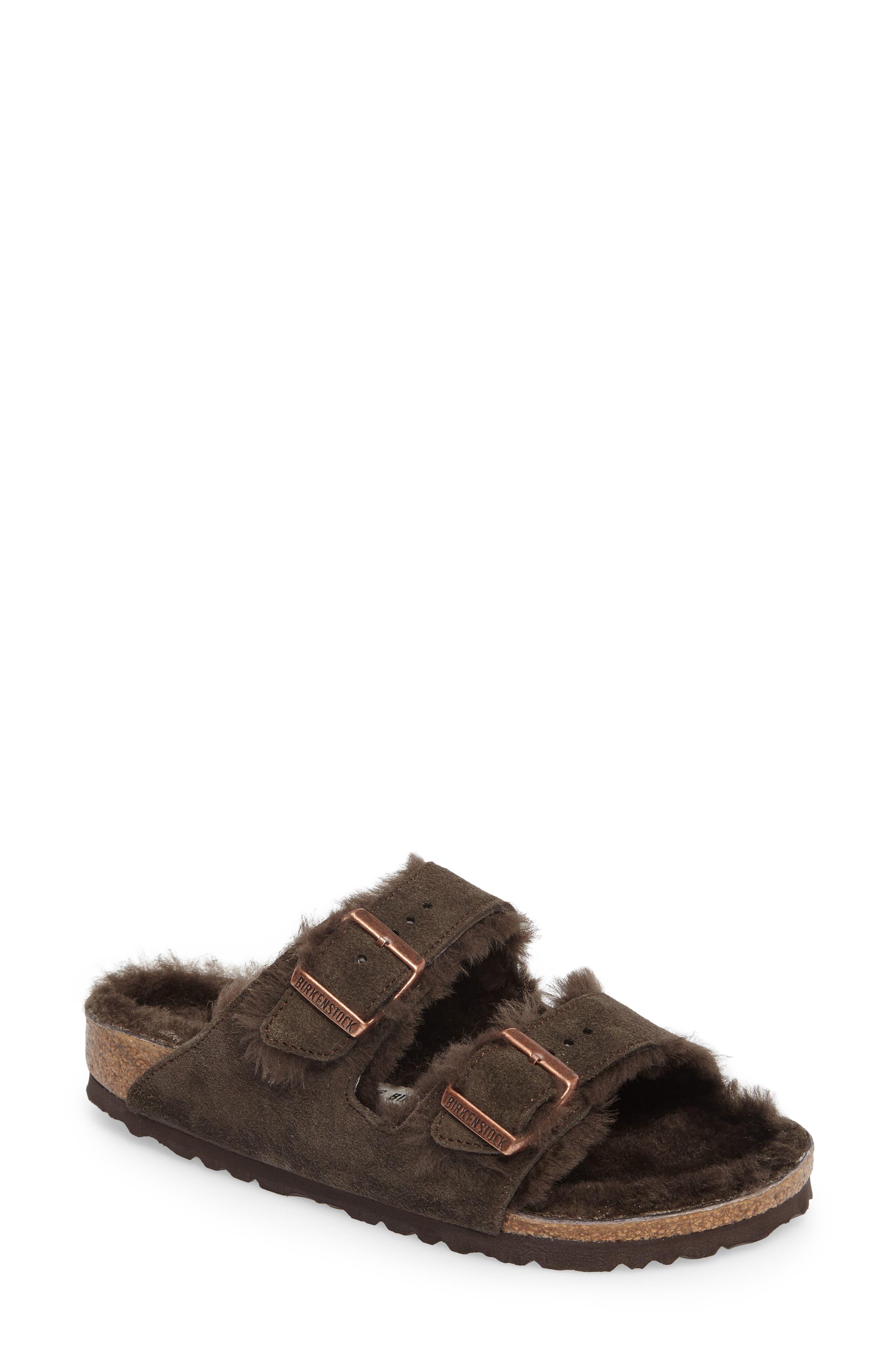 Arizona Genuine Shearling Lined Sandal,                             Main thumbnail 1, color,                             200