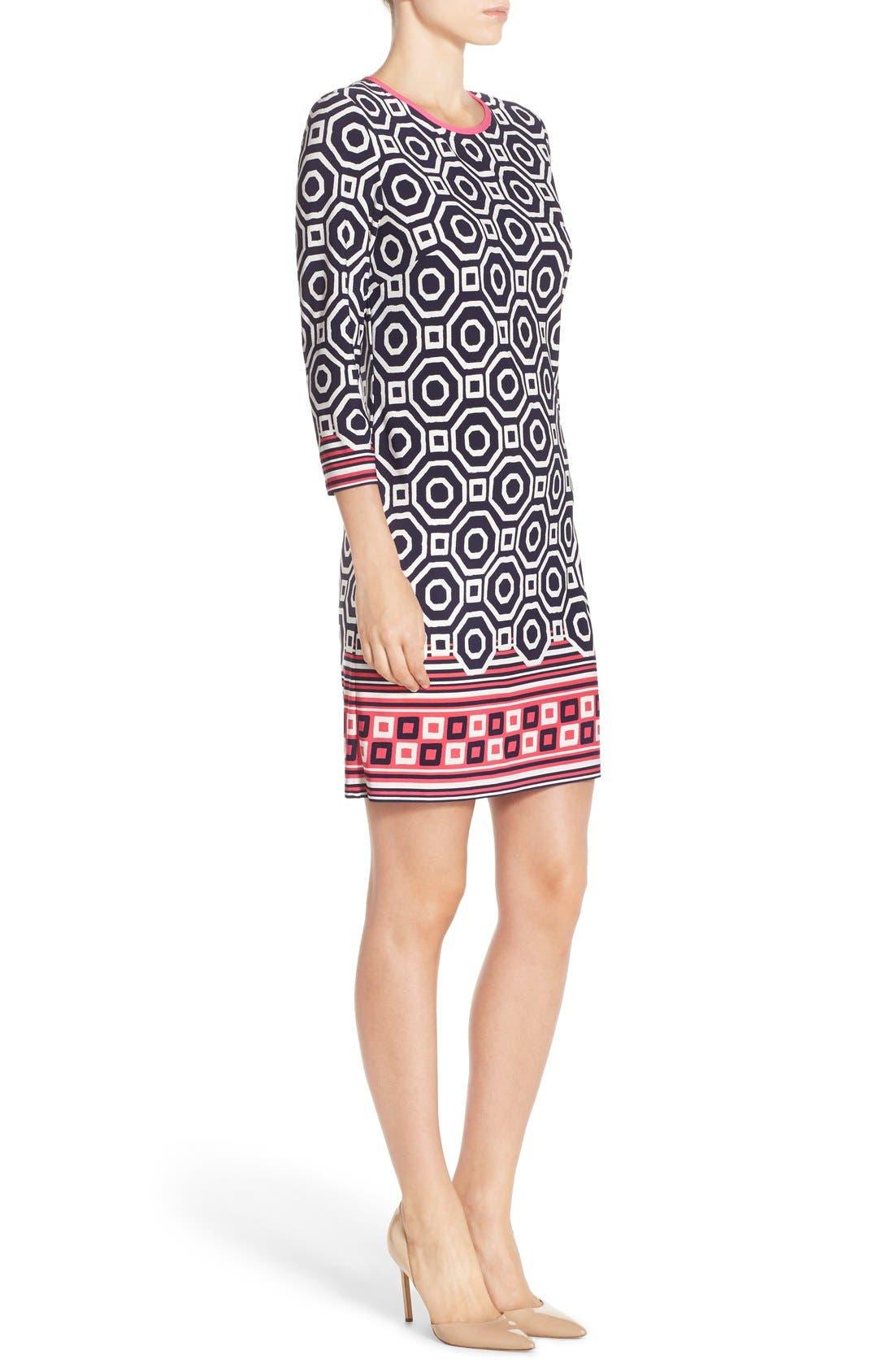 Print Jersey Shift Dress,                             Alternate thumbnail 5, color,                             410