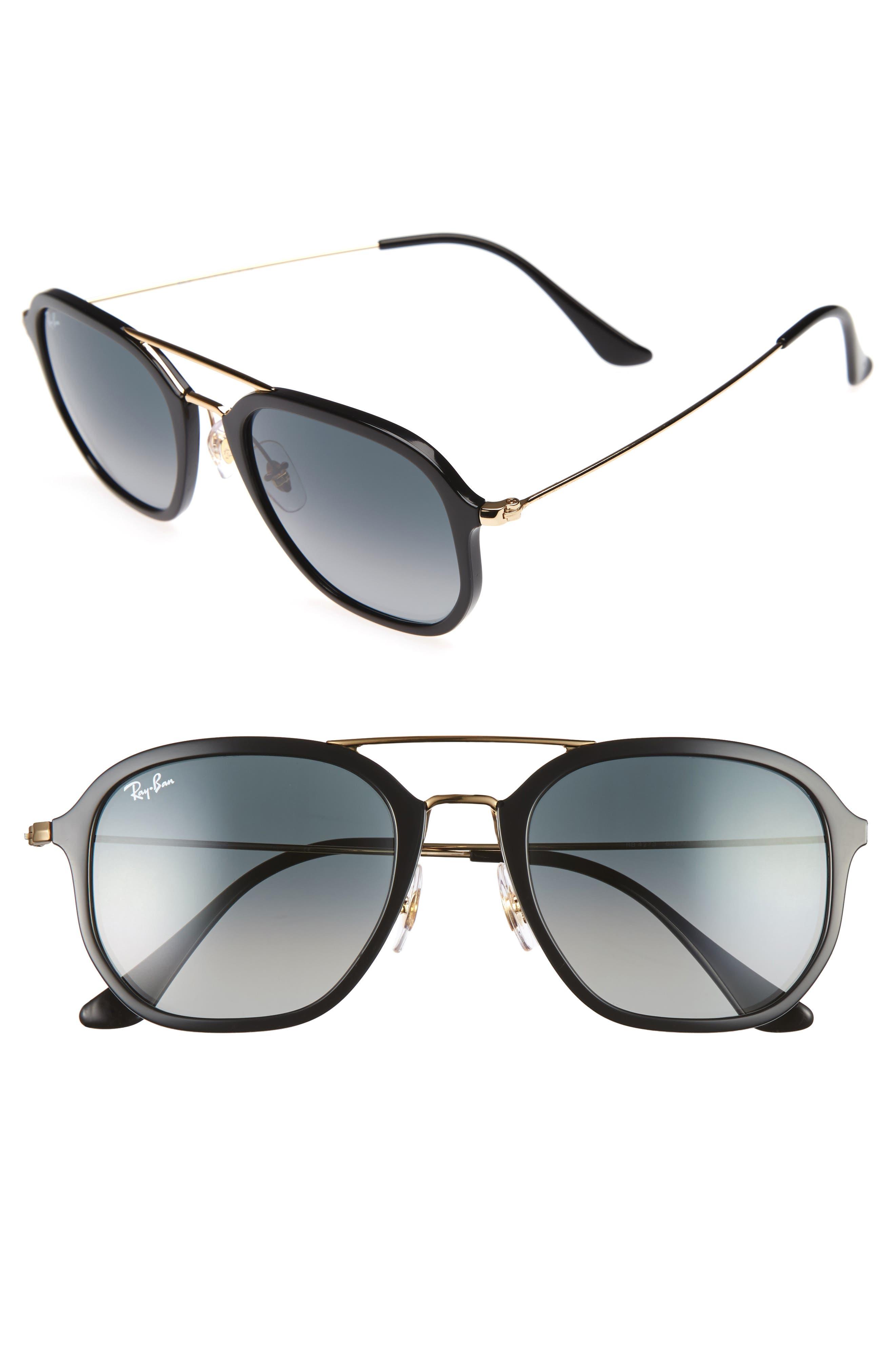 52mm Square Sunglasses,                             Main thumbnail 1, color,