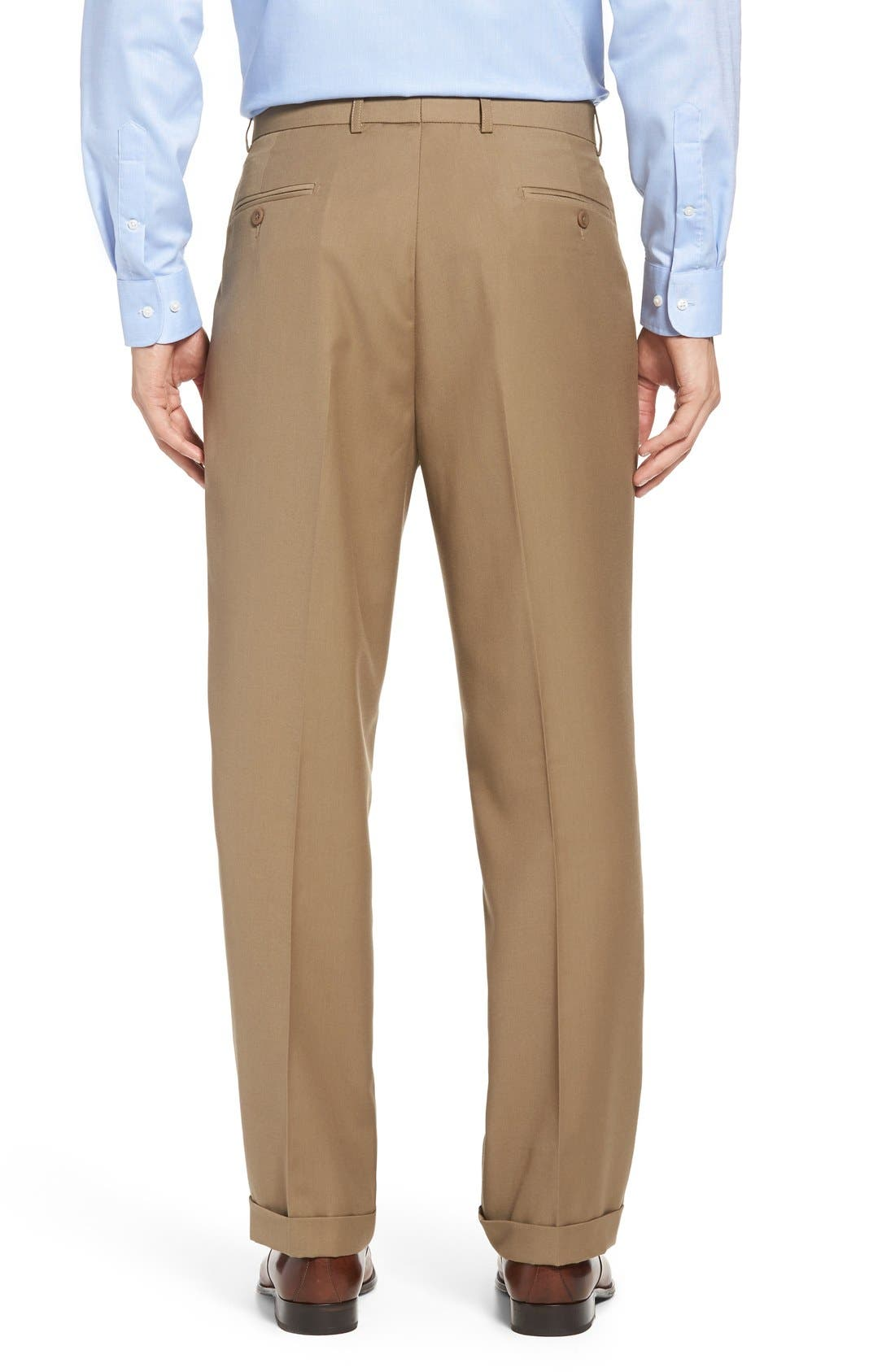 Pleated Microfiber Dress Pants,                             Alternate thumbnail 10, color,
