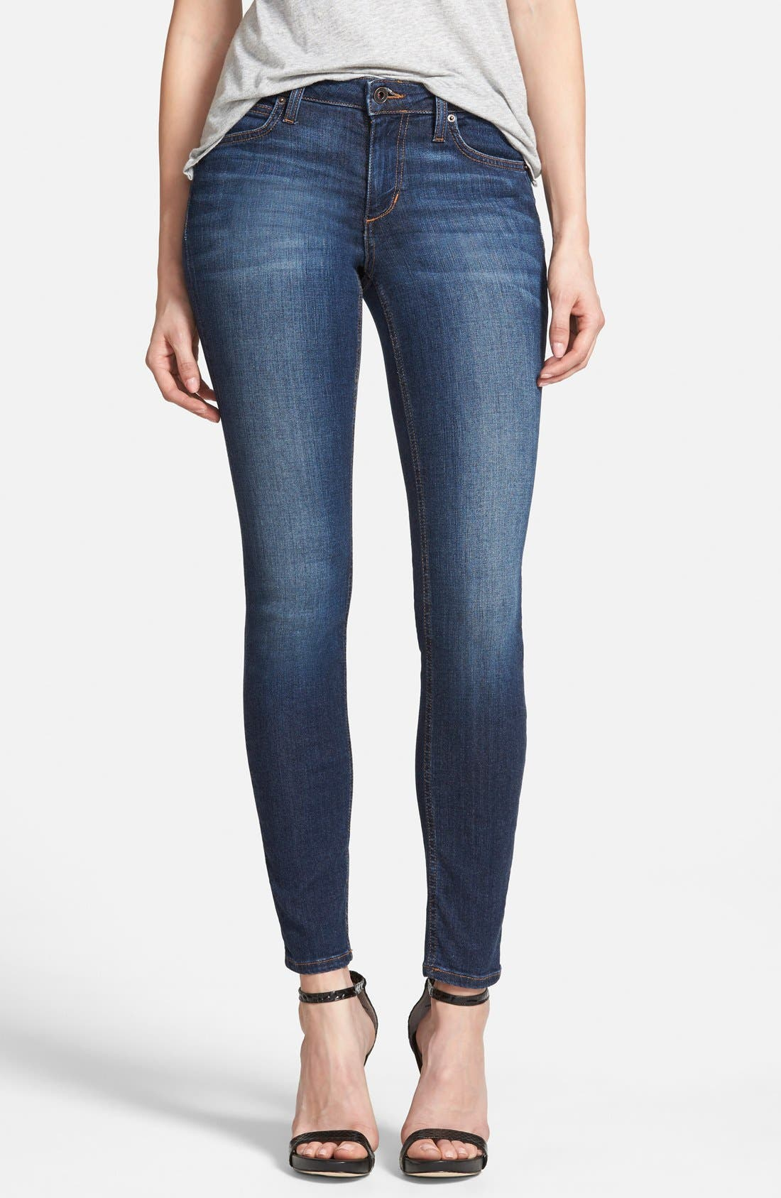'Icon' Ankle Skinny Jeans,                             Main thumbnail 1, color,                             410
