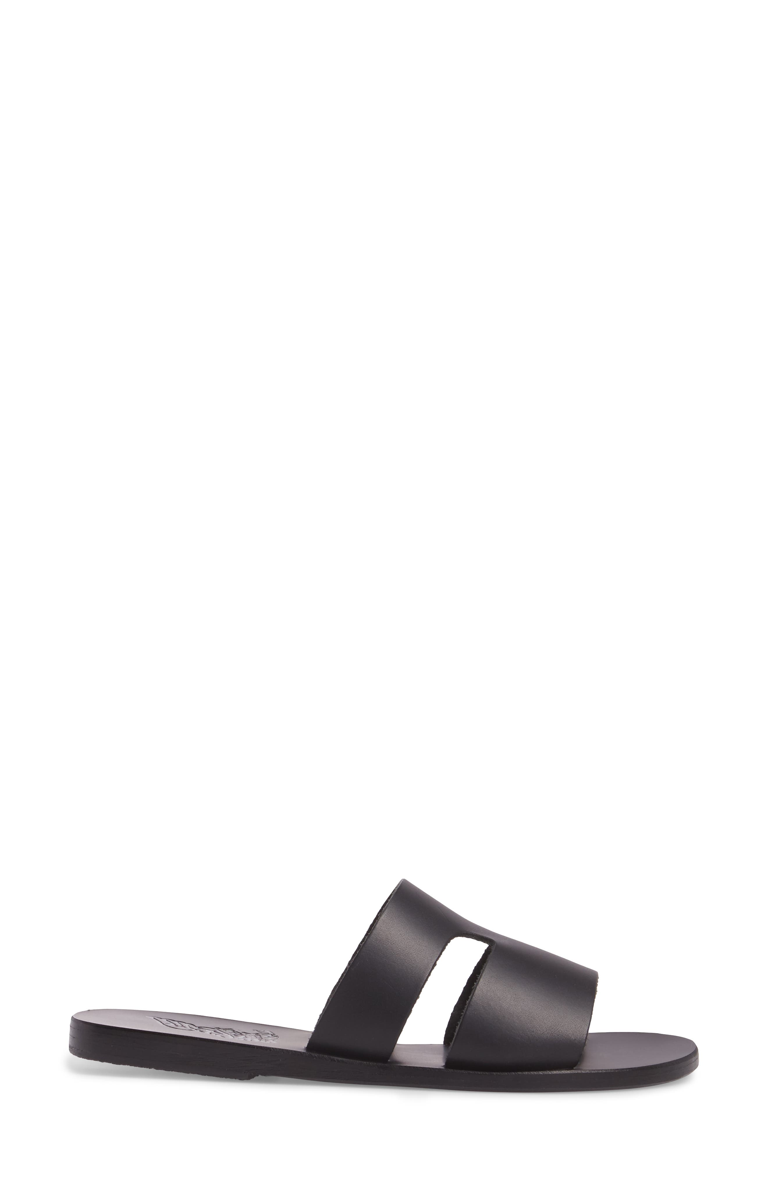 Apteros Genuine Calf Hair Slide Sandal,                             Alternate thumbnail 3, color,                             001