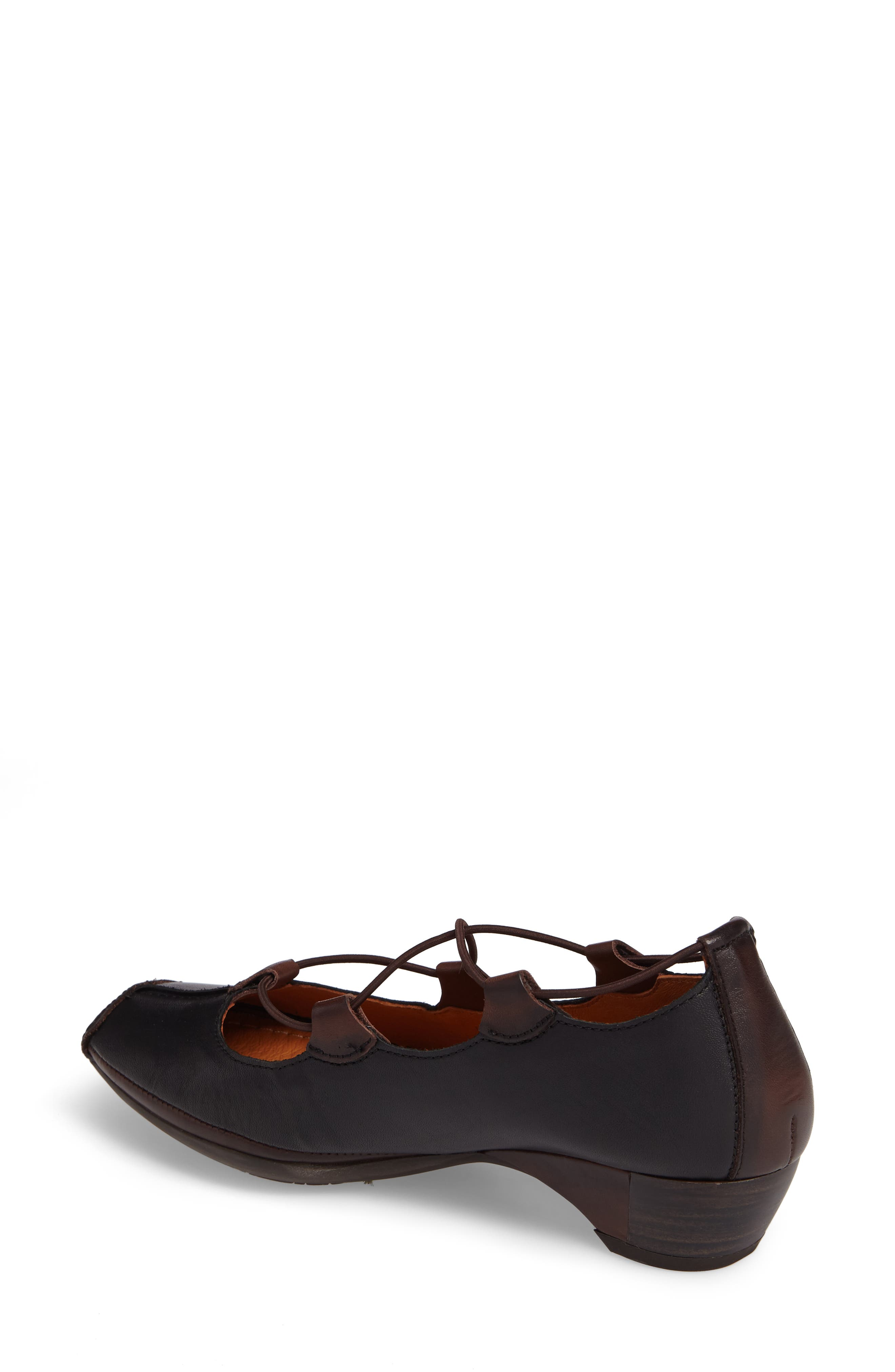 Gandia Lace-Up Pump,                             Alternate thumbnail 2, color,                             BLACK OLMO LEATHER