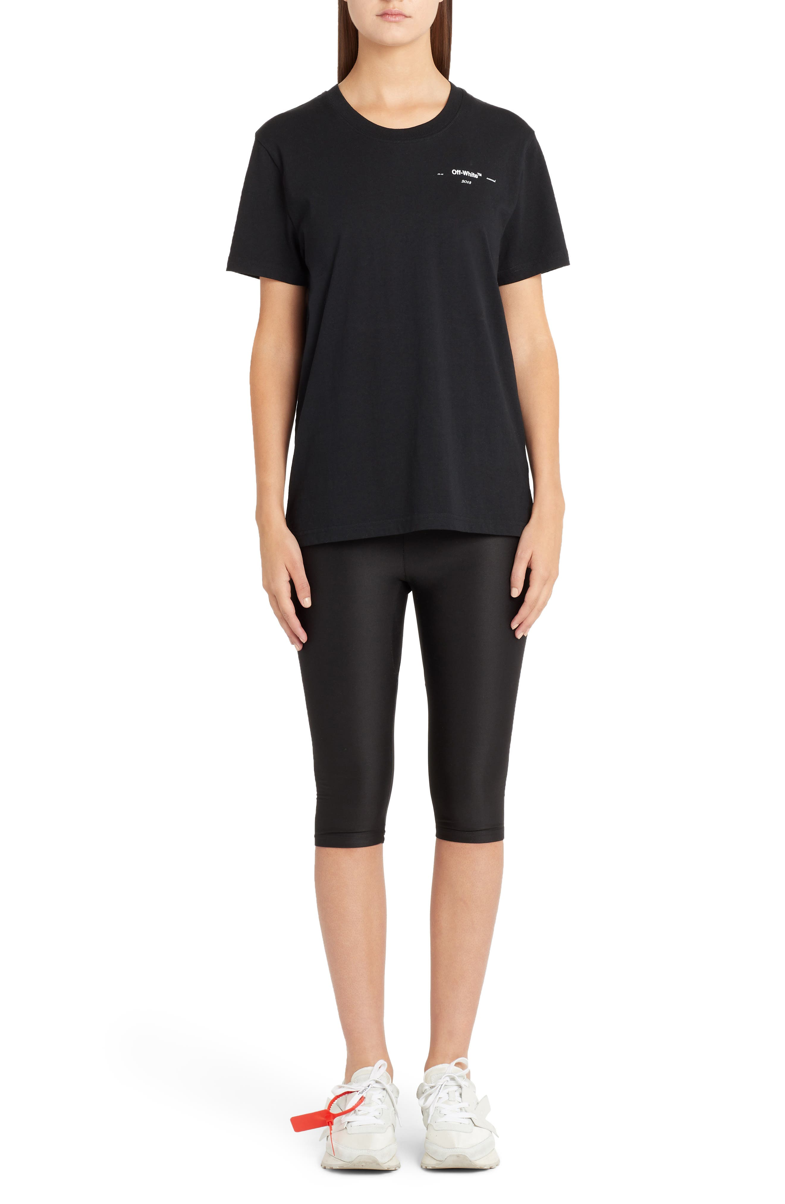 OFF-WHITE,                             Industrial Jogging Crop Pants,                             Alternate thumbnail 6, color,                             BLACK