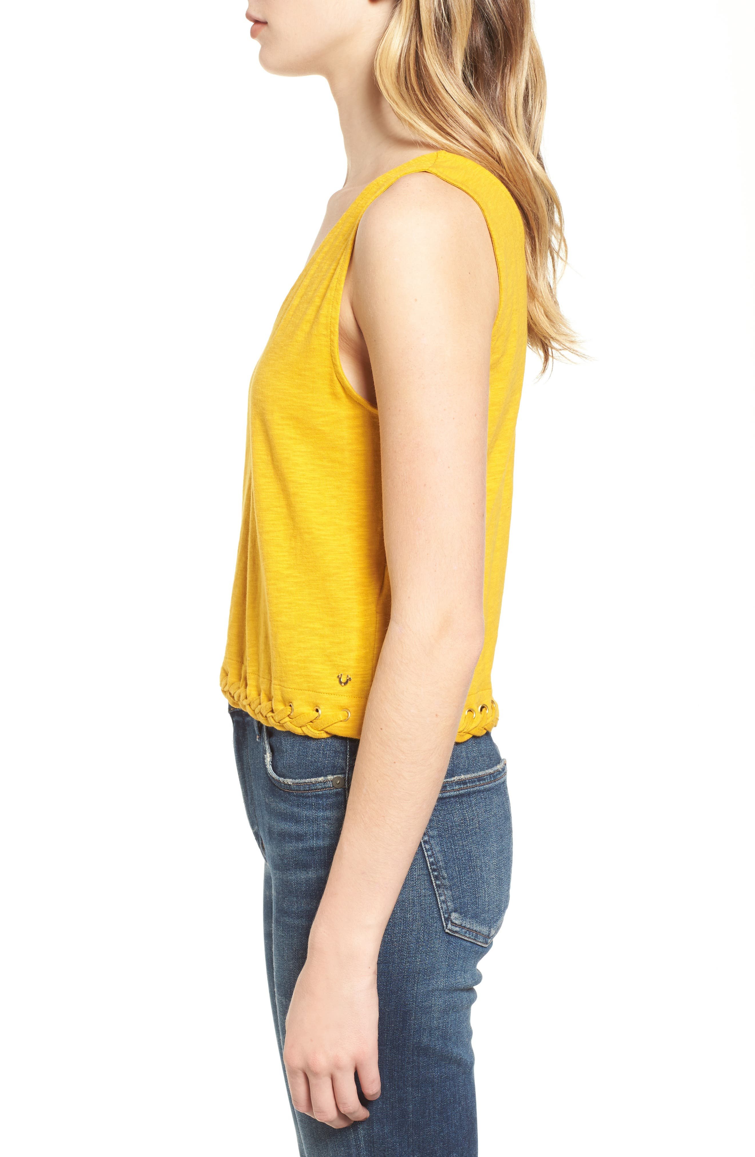 Laced Hem Tank,                             Alternate thumbnail 3, color,                             700