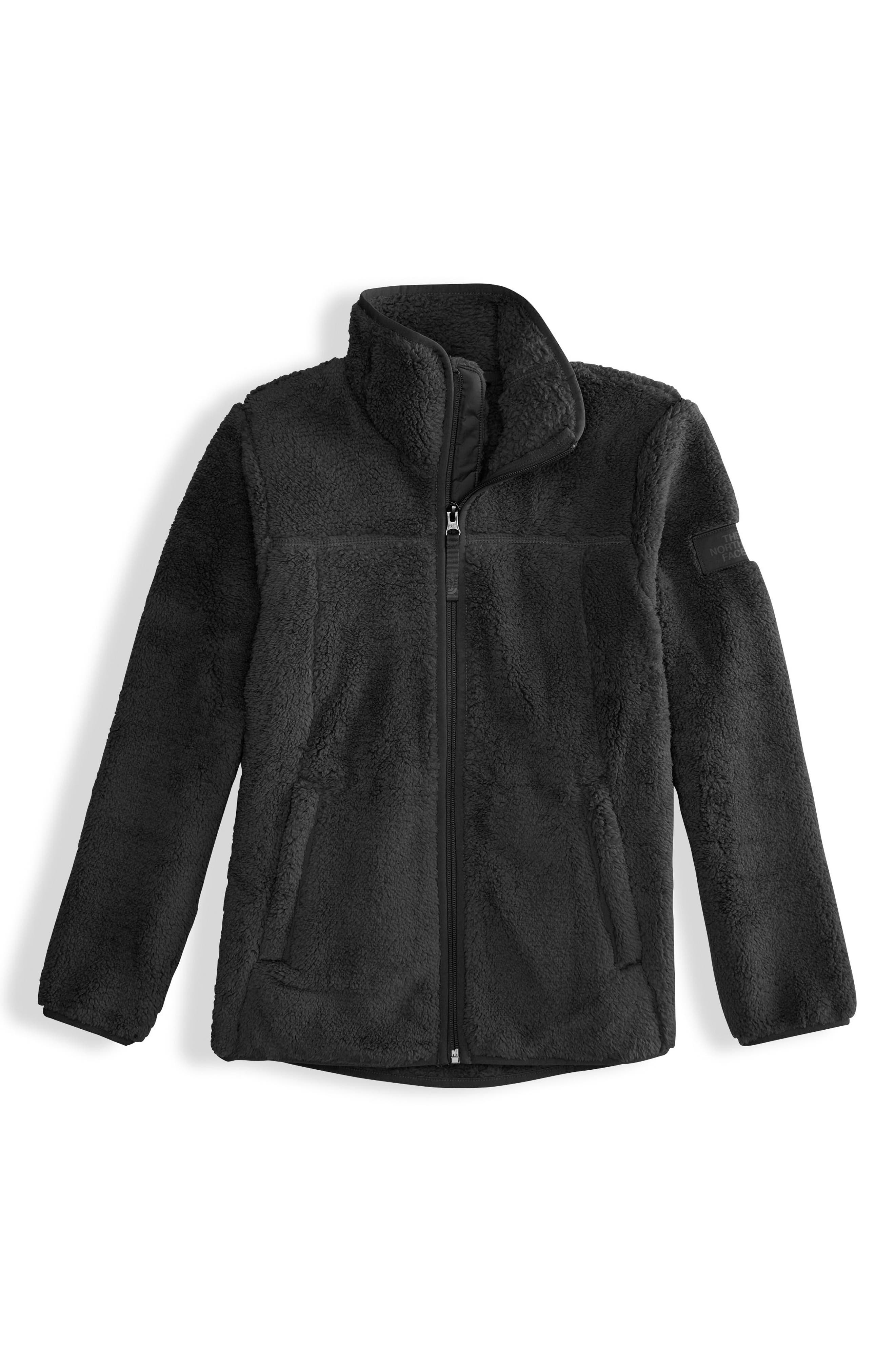 Campshire Fleece Jacket,                             Main thumbnail 1, color,                             TNF BLACK