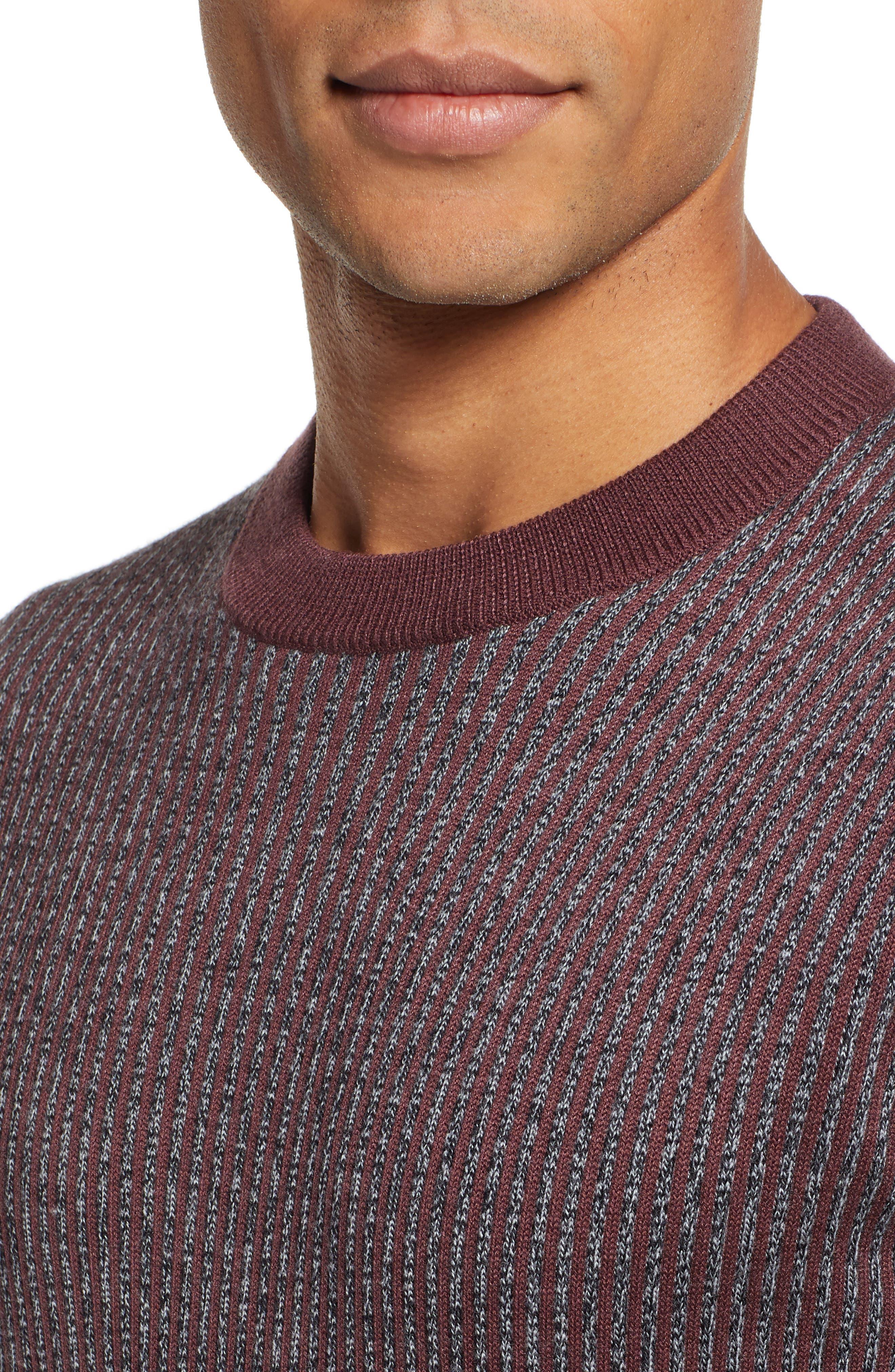 Jinxitt Crewneck Sweater,                             Alternate thumbnail 4, color,                             DEEP-PINK